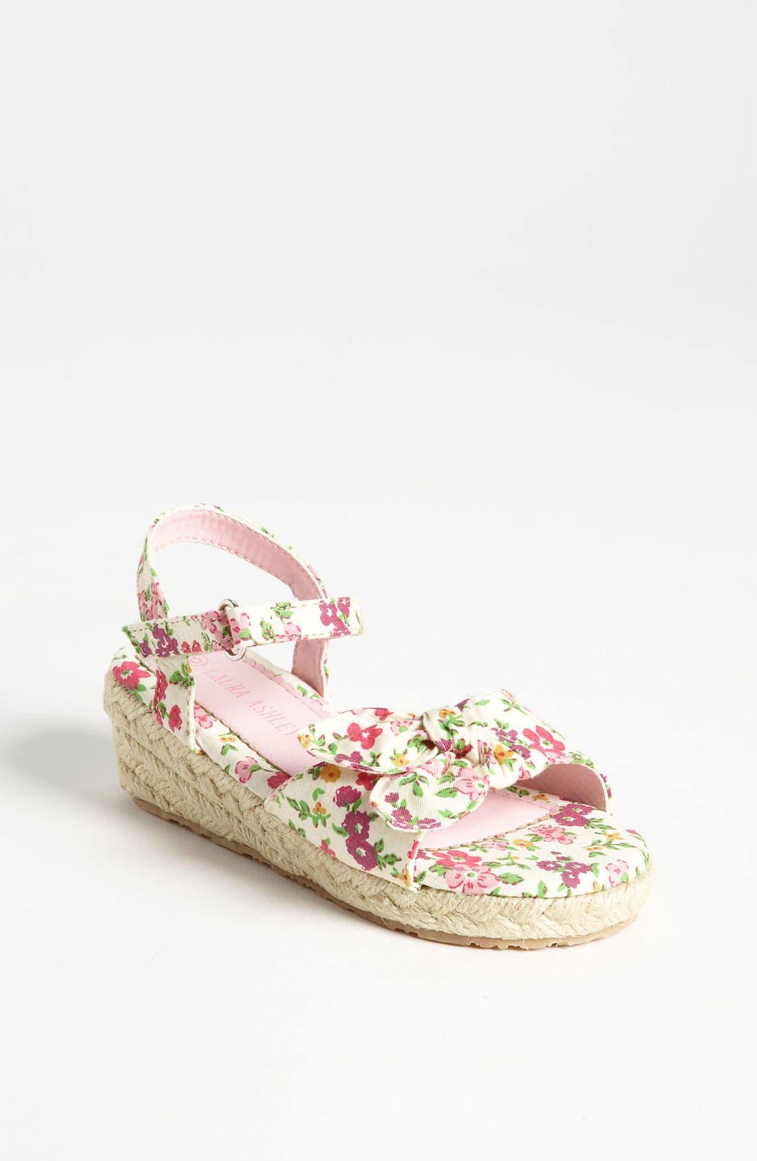 Alternate Image 1 Selected - Laura Ashley Flower Print Fabric Sandal (Walker & Toddler)