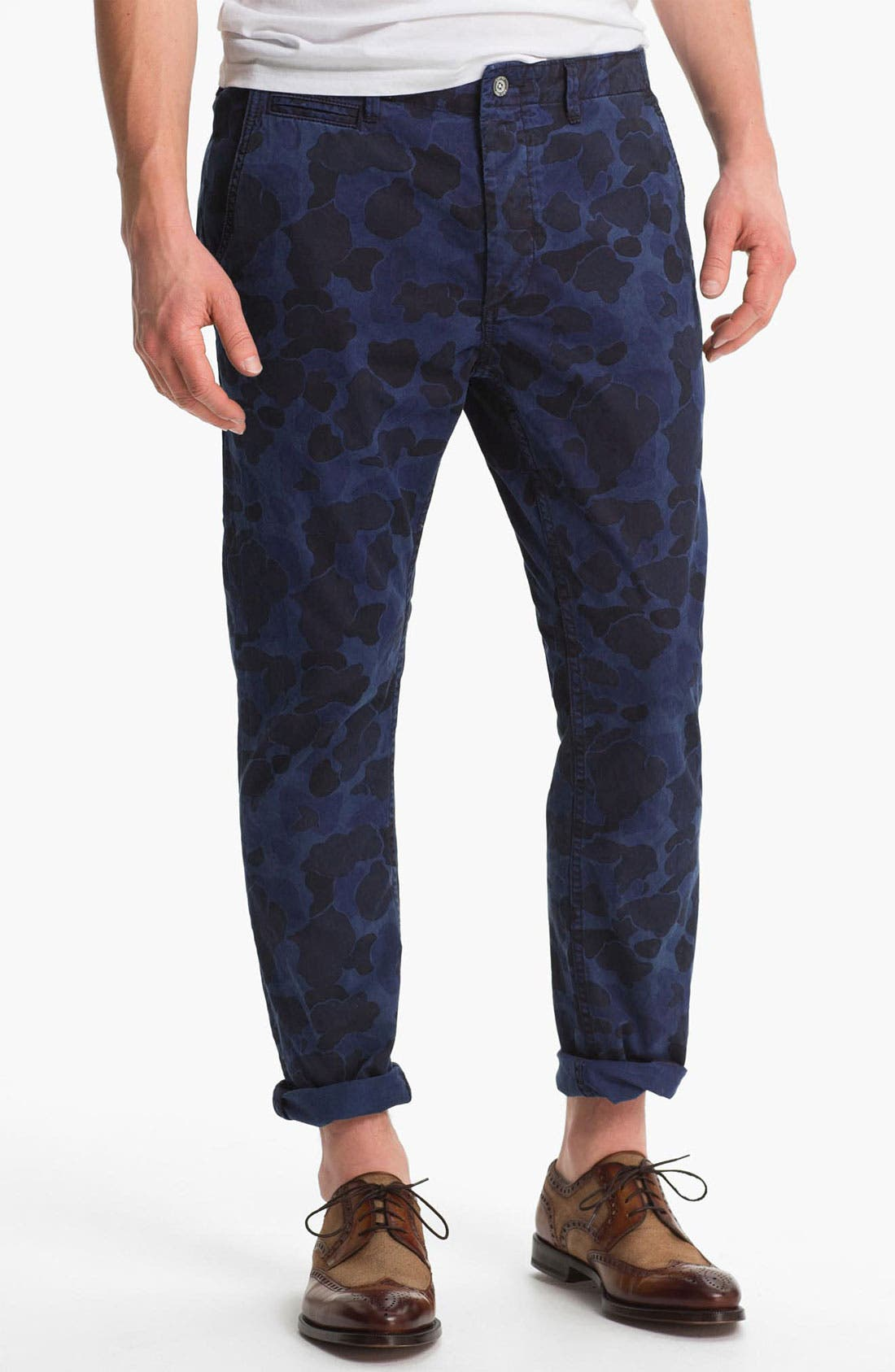 Alternate Image 1 Selected - Scotch & Soda 'Mason' Camo Print Slim Straight Leg Chinos