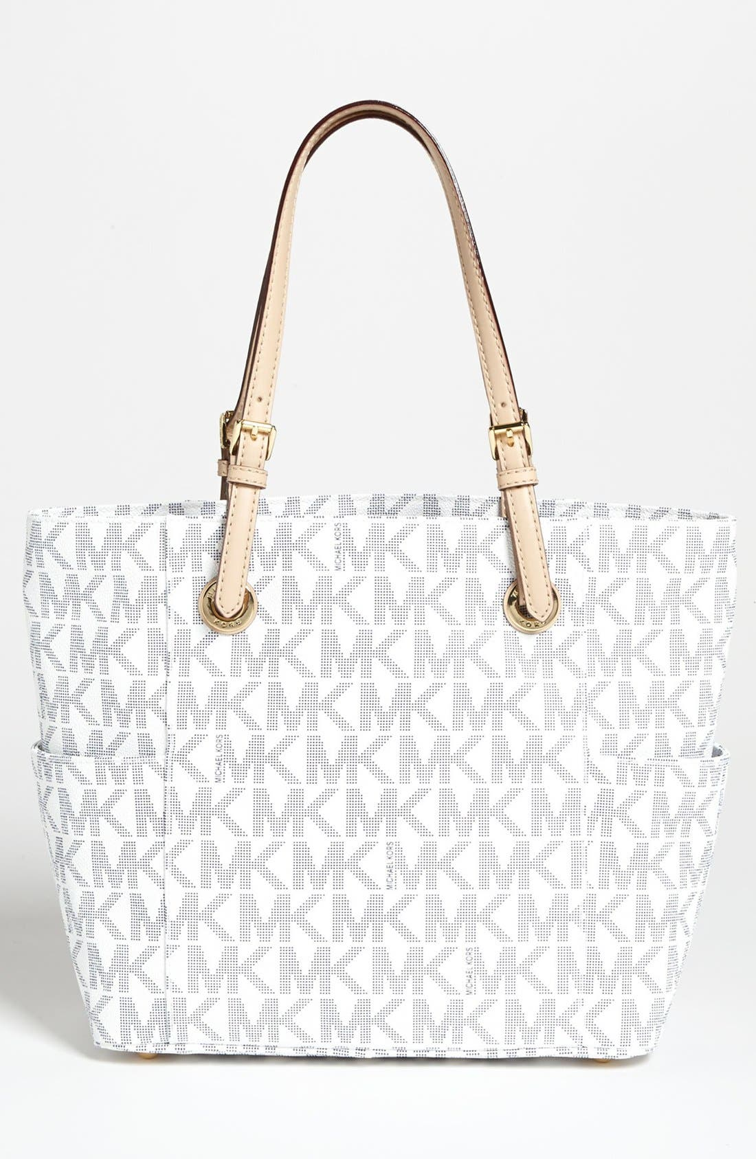 Alternate Image 4  - MICHAEL Michael Kors 'Jet Set Signature' Tote