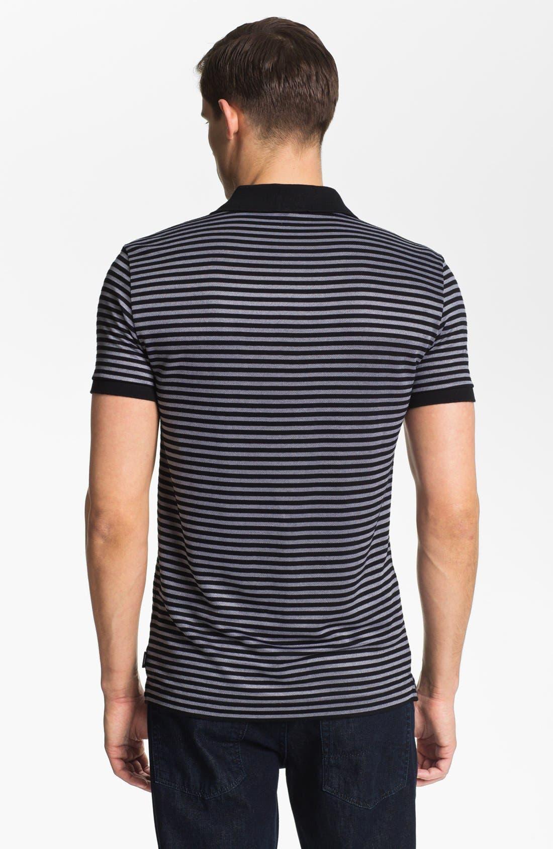 Alternate Image 2  - Armani Collezioni Stripe Piqué Polo