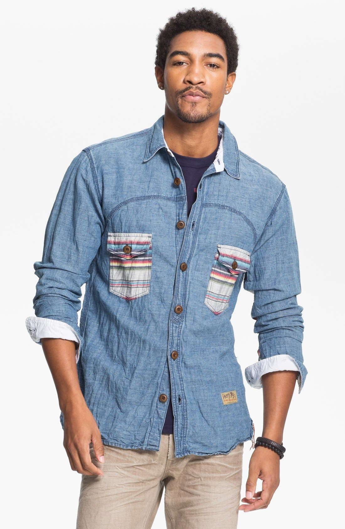 Alternate Image 1 Selected - PRPS Chambray Shirt