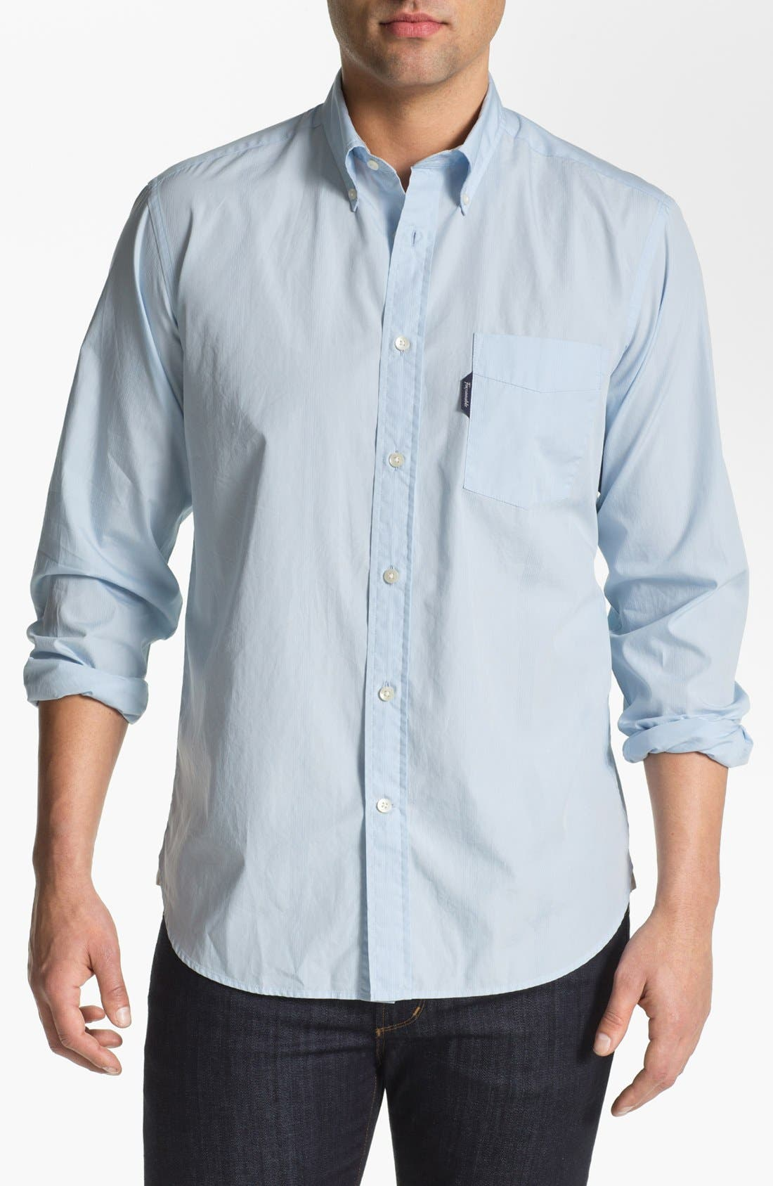 Main Image - Façonnable Club Fit Cambric Sport Shirt