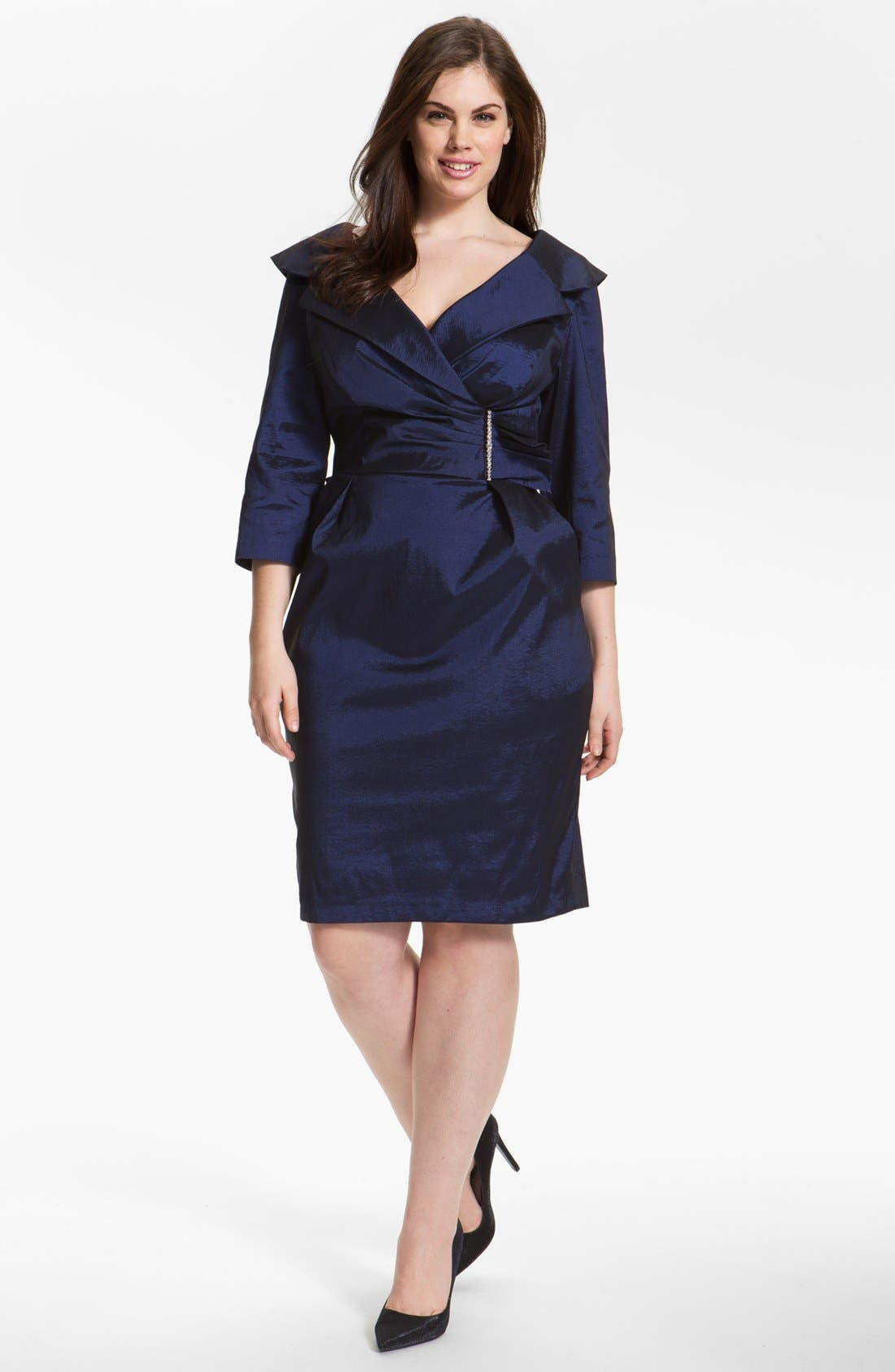 Alternate Image 1 Selected - Alex Evenings Embellished Sheath Dress (Plus Size)