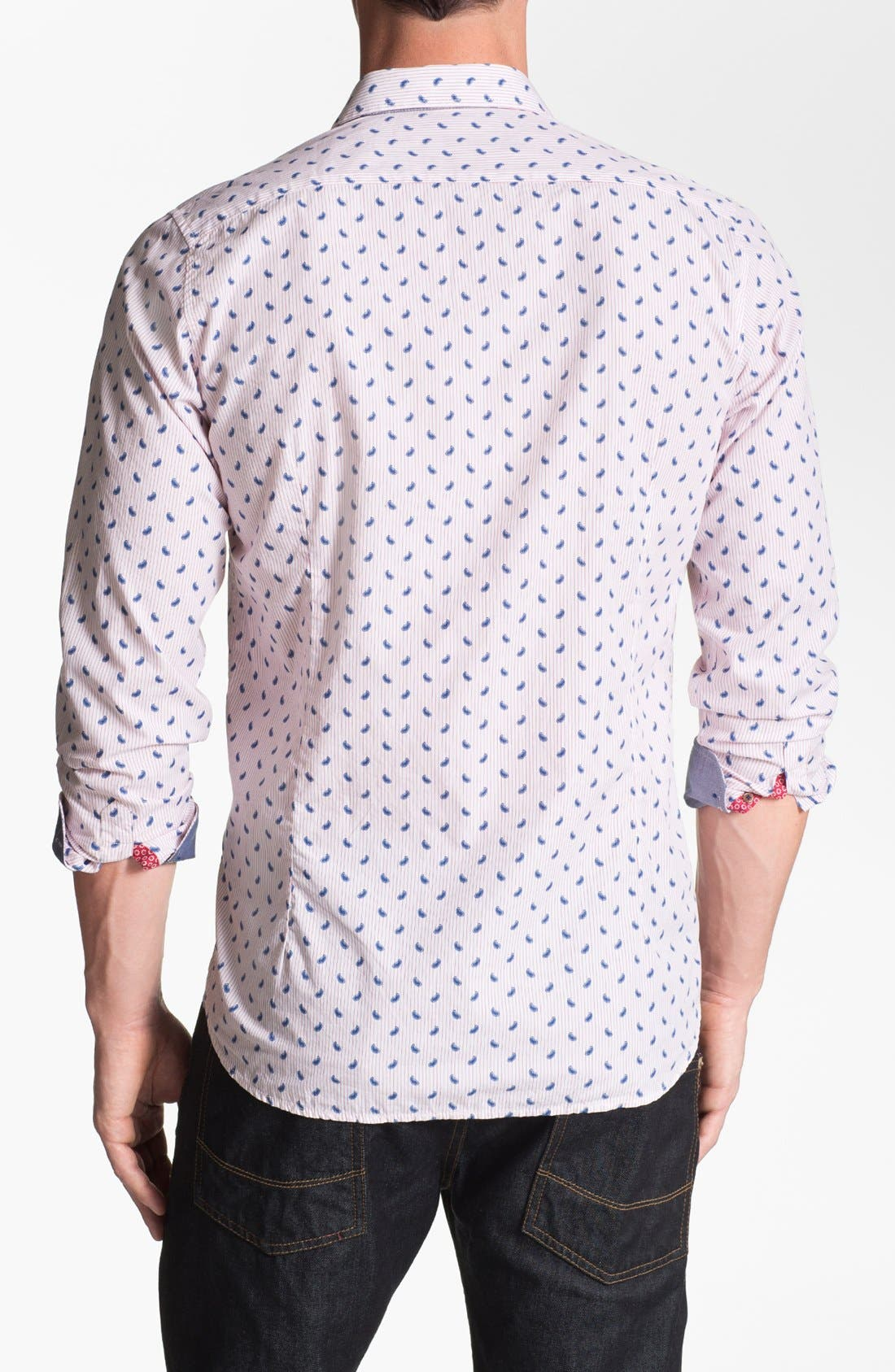 Alternate Image 2  - Ted Baker London 'Pastrip' Trim Fit Sport Shirt