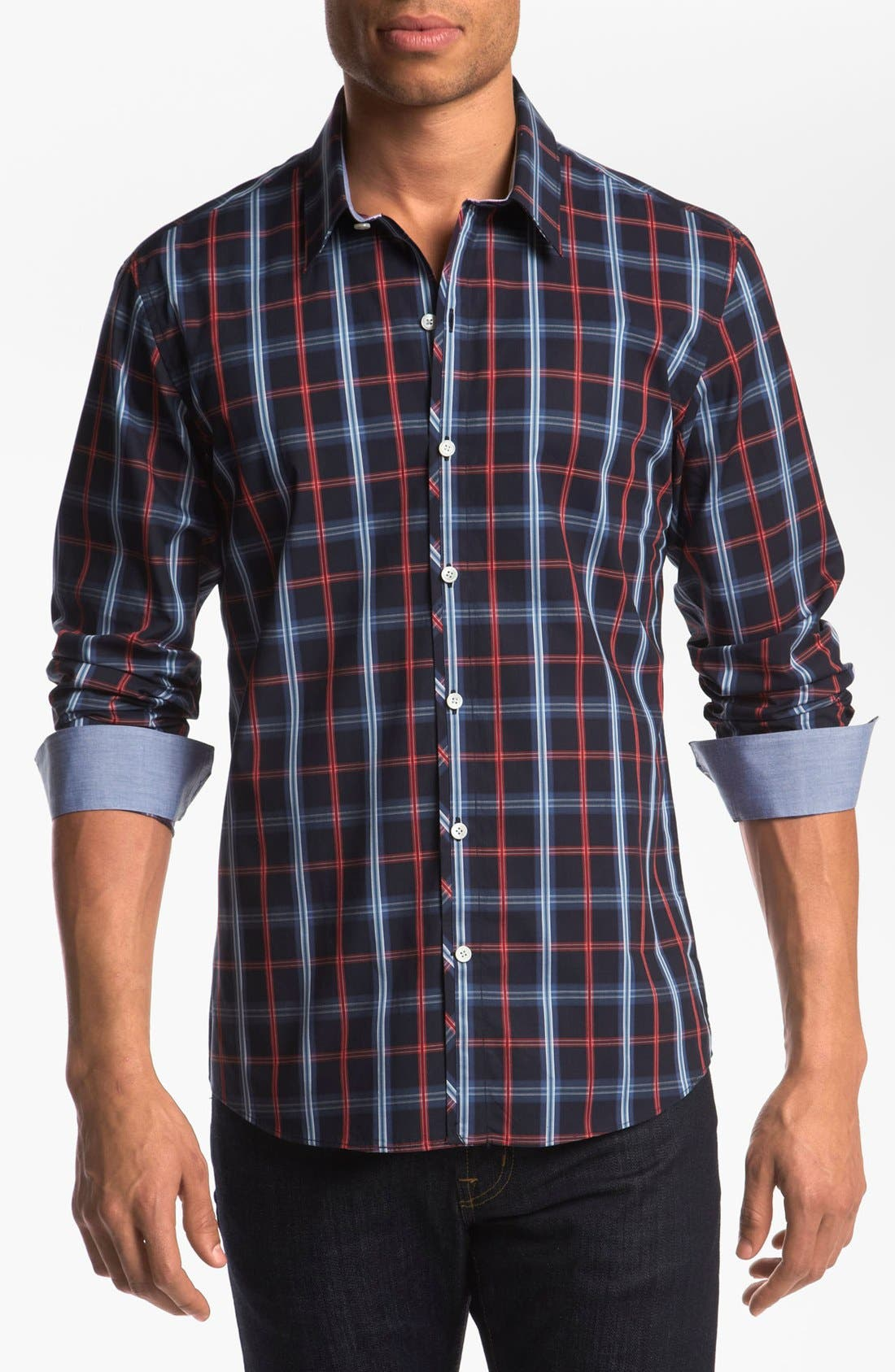 Alternate Image 1 Selected - Kenson 'Seventh Seal' Regular Fit Sport Shirt