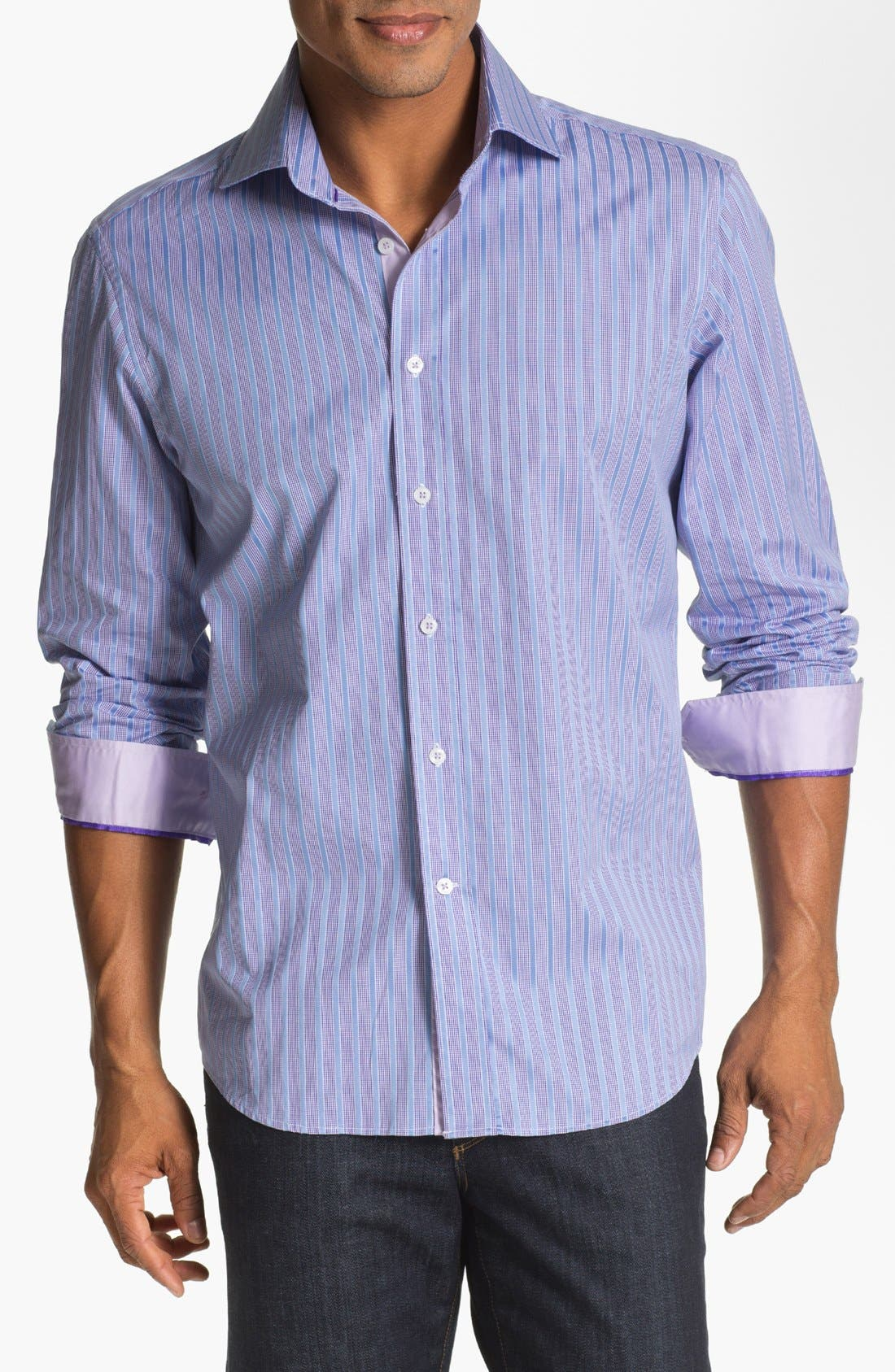 Main Image - Report Collection Trim Fit Sport Shirt (Online Only)