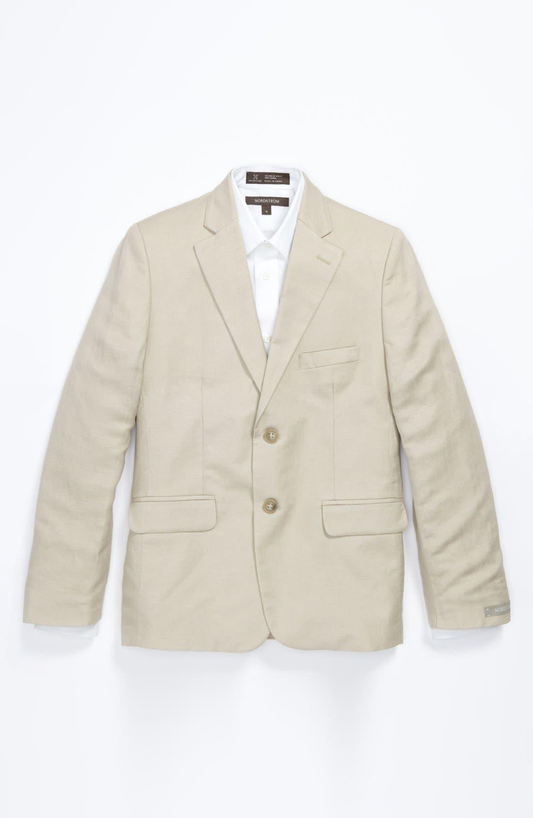 Alternate Image 1 Selected - Nordstrom 'Christopher' Linen Blend Blazer (Big Boys)
