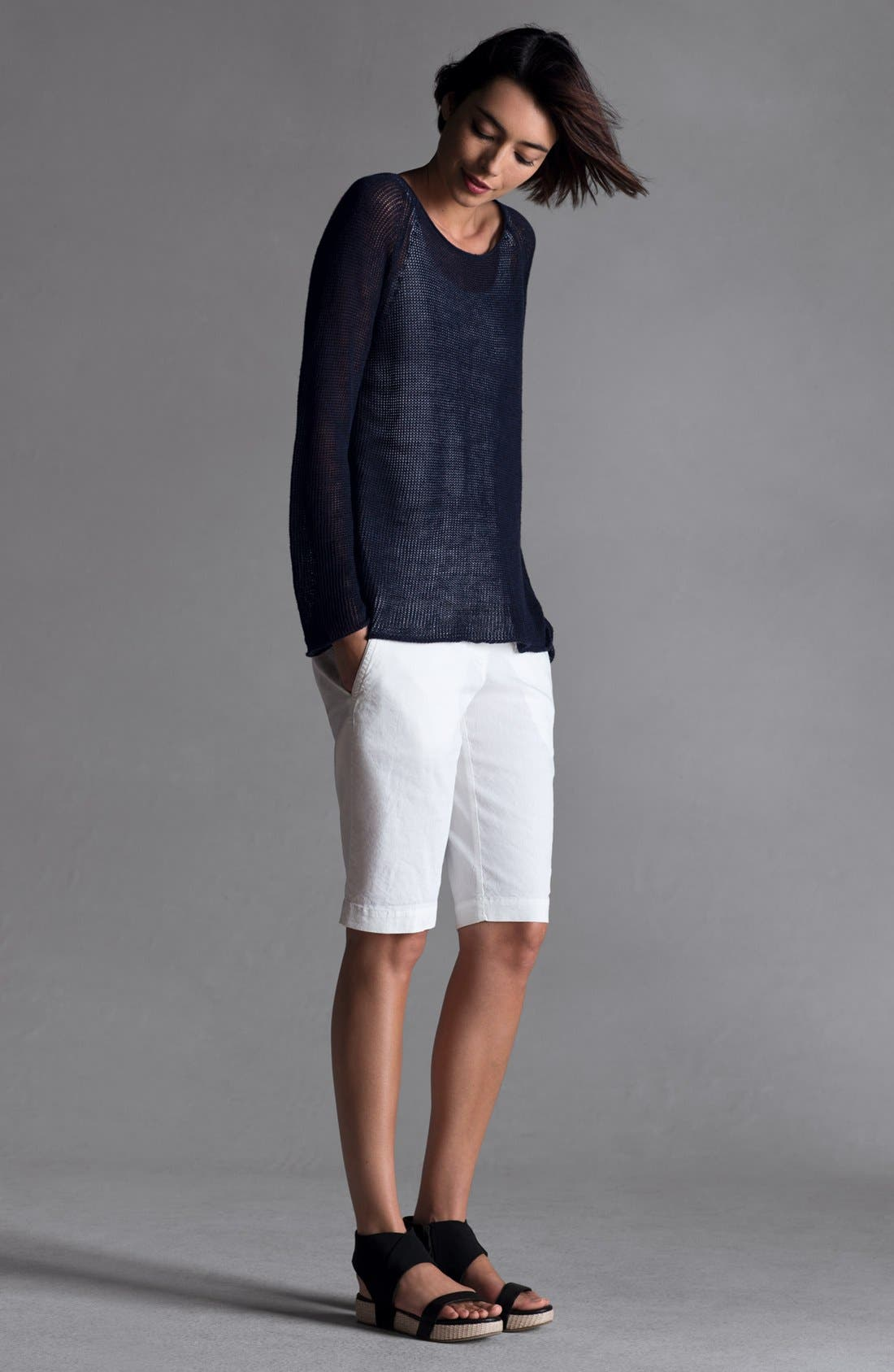 Alternate Image 4  - Eileen Fisher Scoop Neck Raglan Sleeve Top