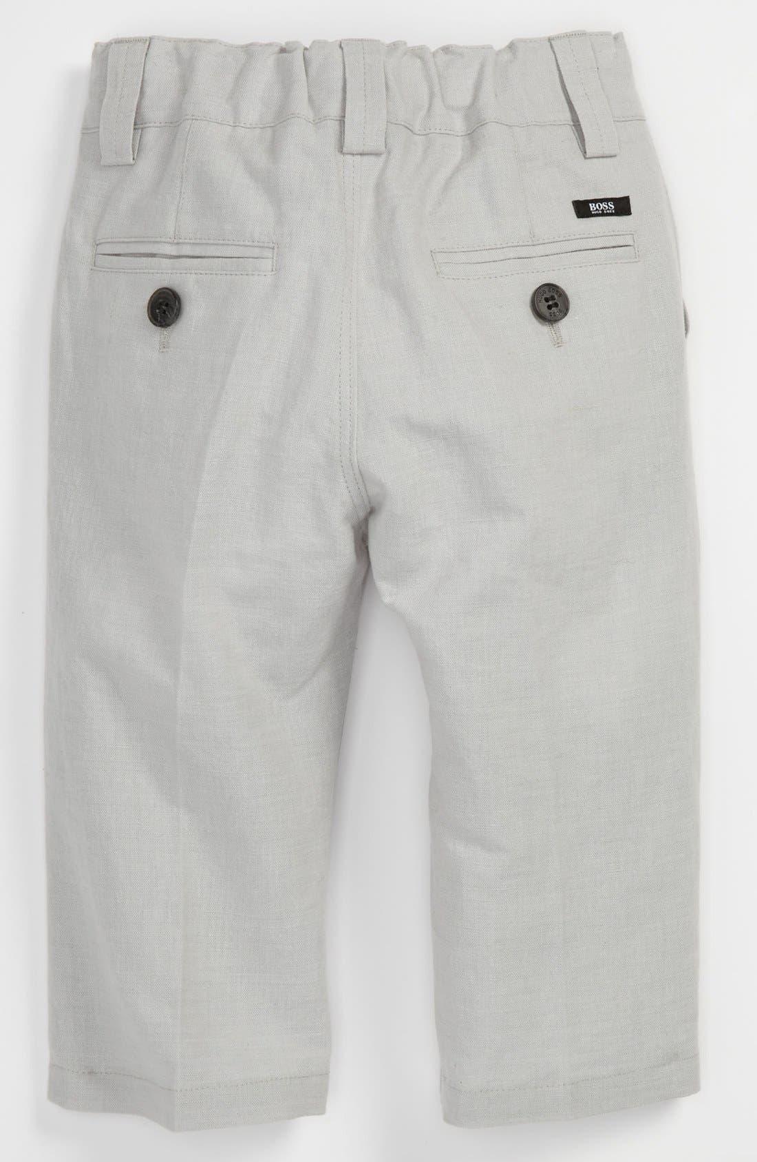 Alternate Image 2  - BOSS Kidswear Linen Blend Pants (Toddler)