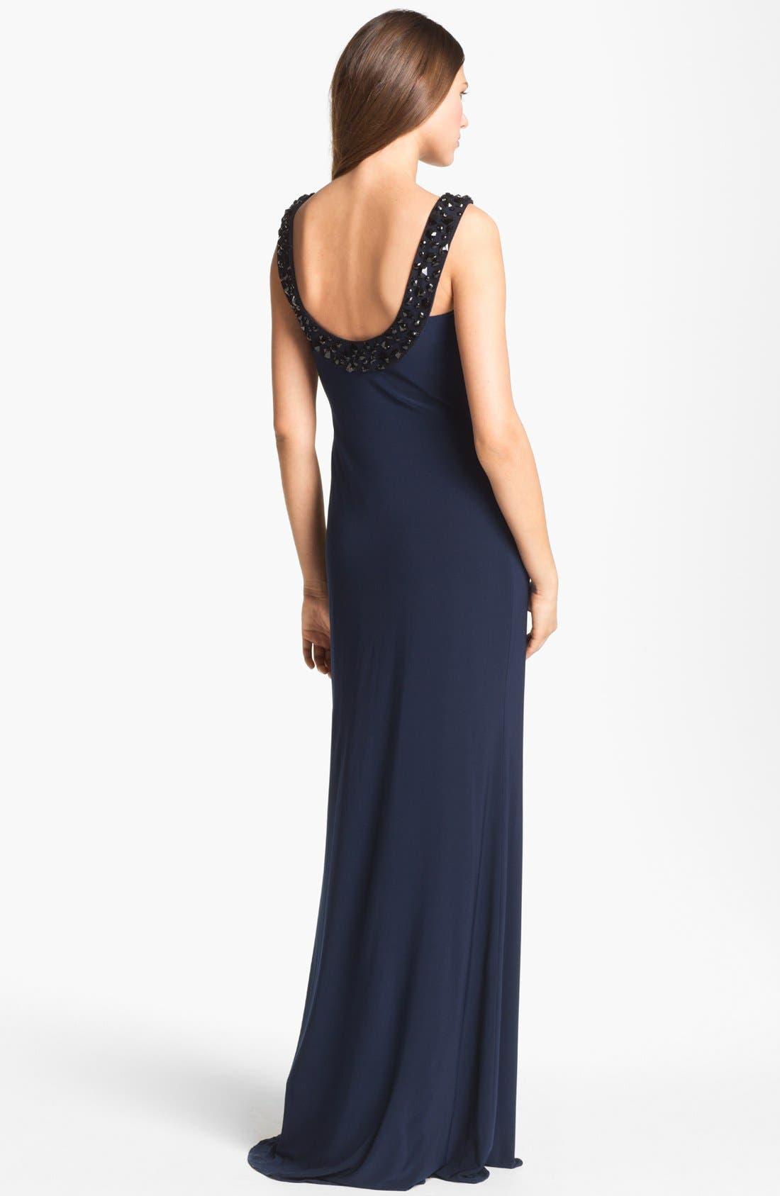 Alternate Image 2  - Kathy Hilton Embellished Column Gown