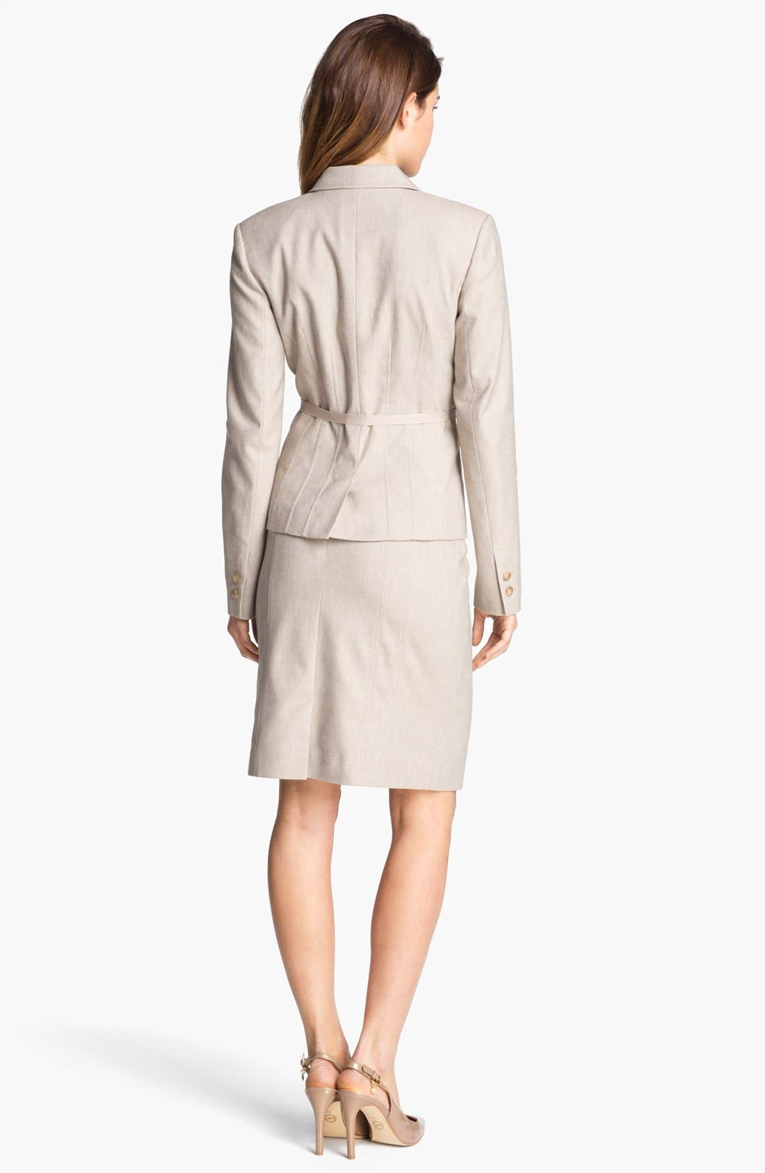 Alternate Image 4  - Halogen® Belted Herringbone Jacket