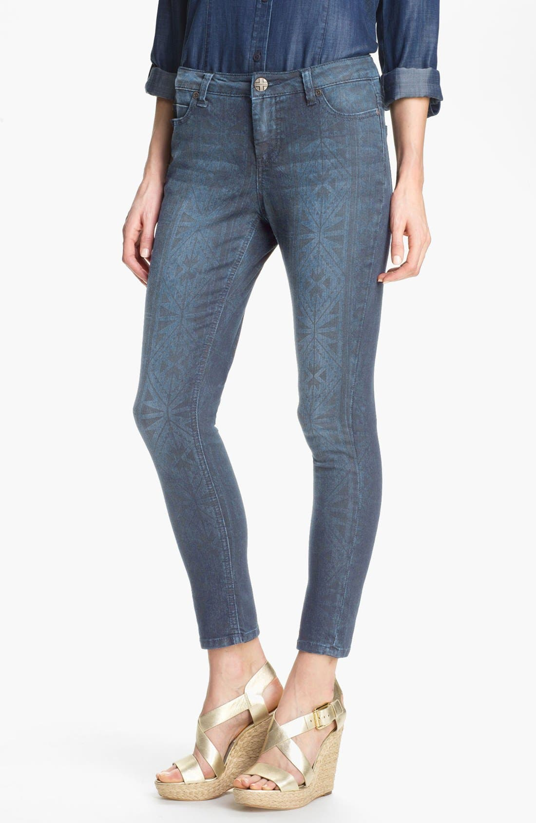 Alternate Image 1 Selected - Liverpool Jeans Company 'Abby' Print Skinny Ankle Jeans