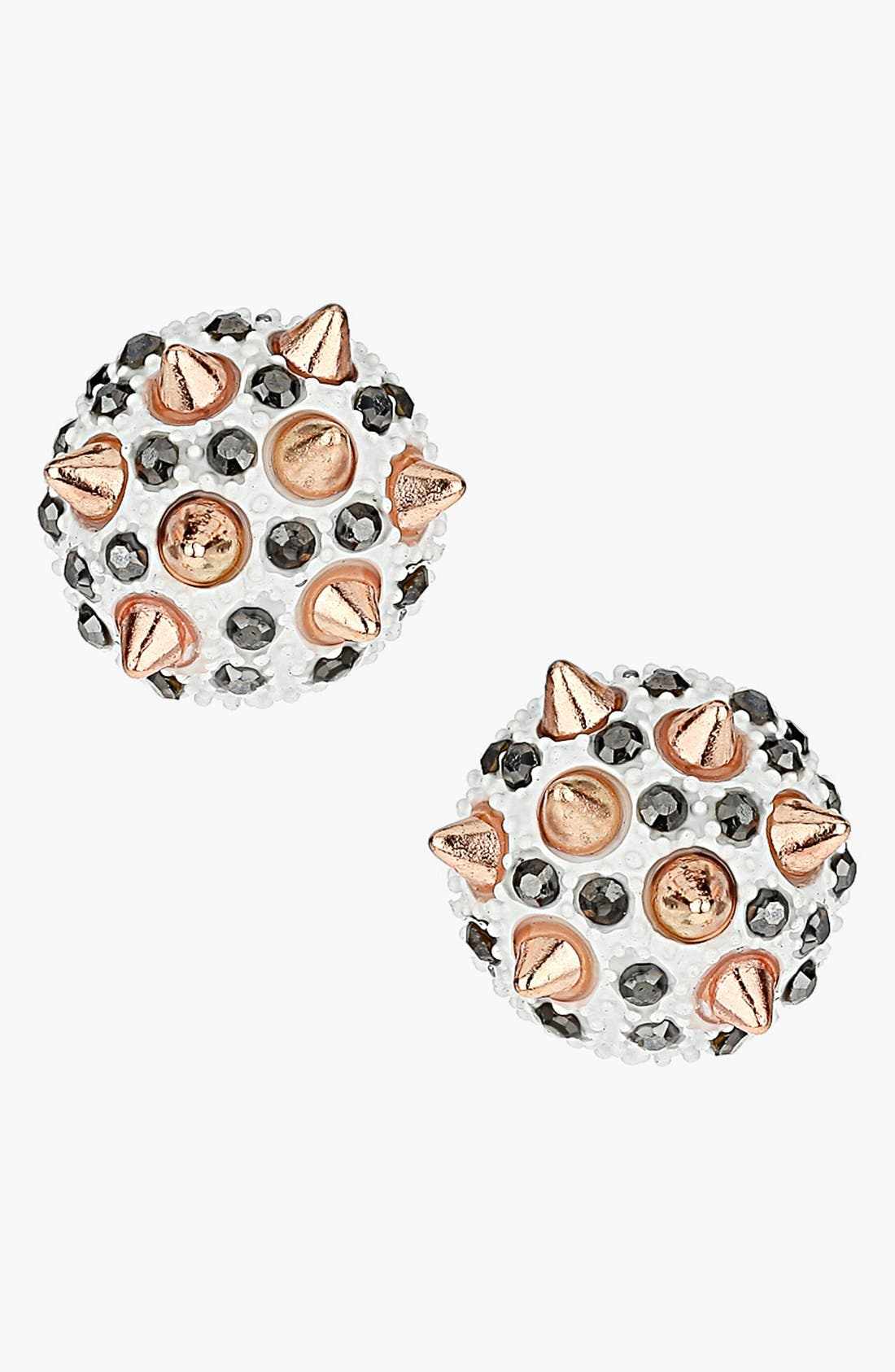 Main Image - Topshop 'Spike Stone' Stud Earrings