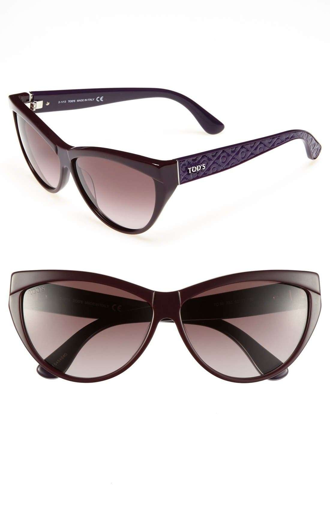 Alternate Image 1 Selected - Tod's 62mm Cat's Eye Sunglasses