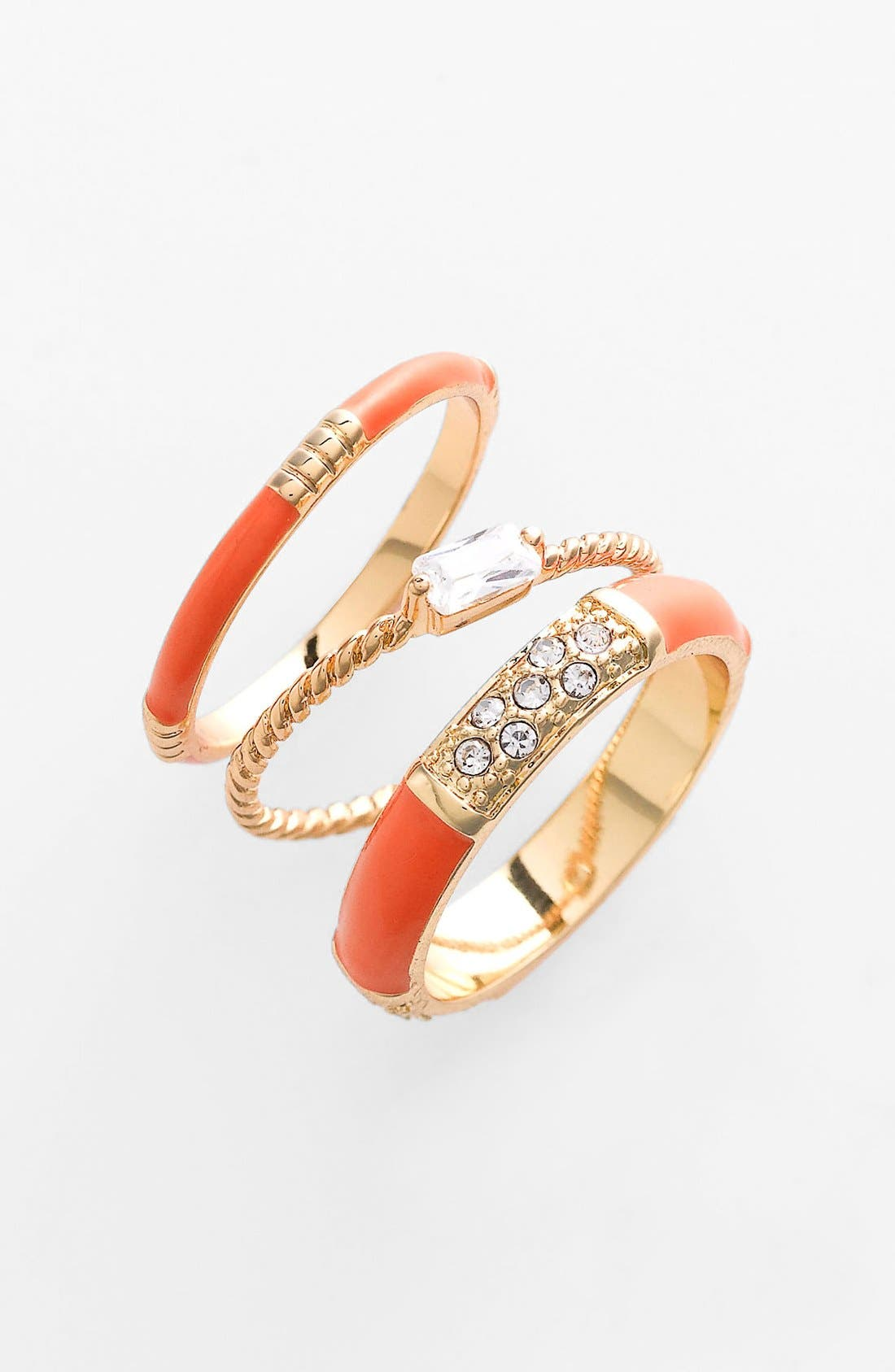 Main Image - Ariella Collection Stackable Rings (Set of 3) (Nordstrom Exclusive)