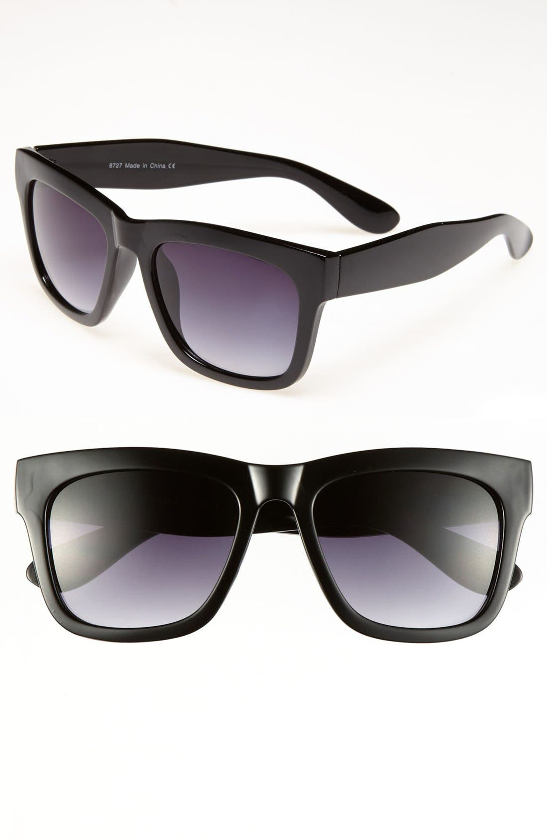 Alternate Image 1 Selected - KW Retro Sunglasses (Juniors)