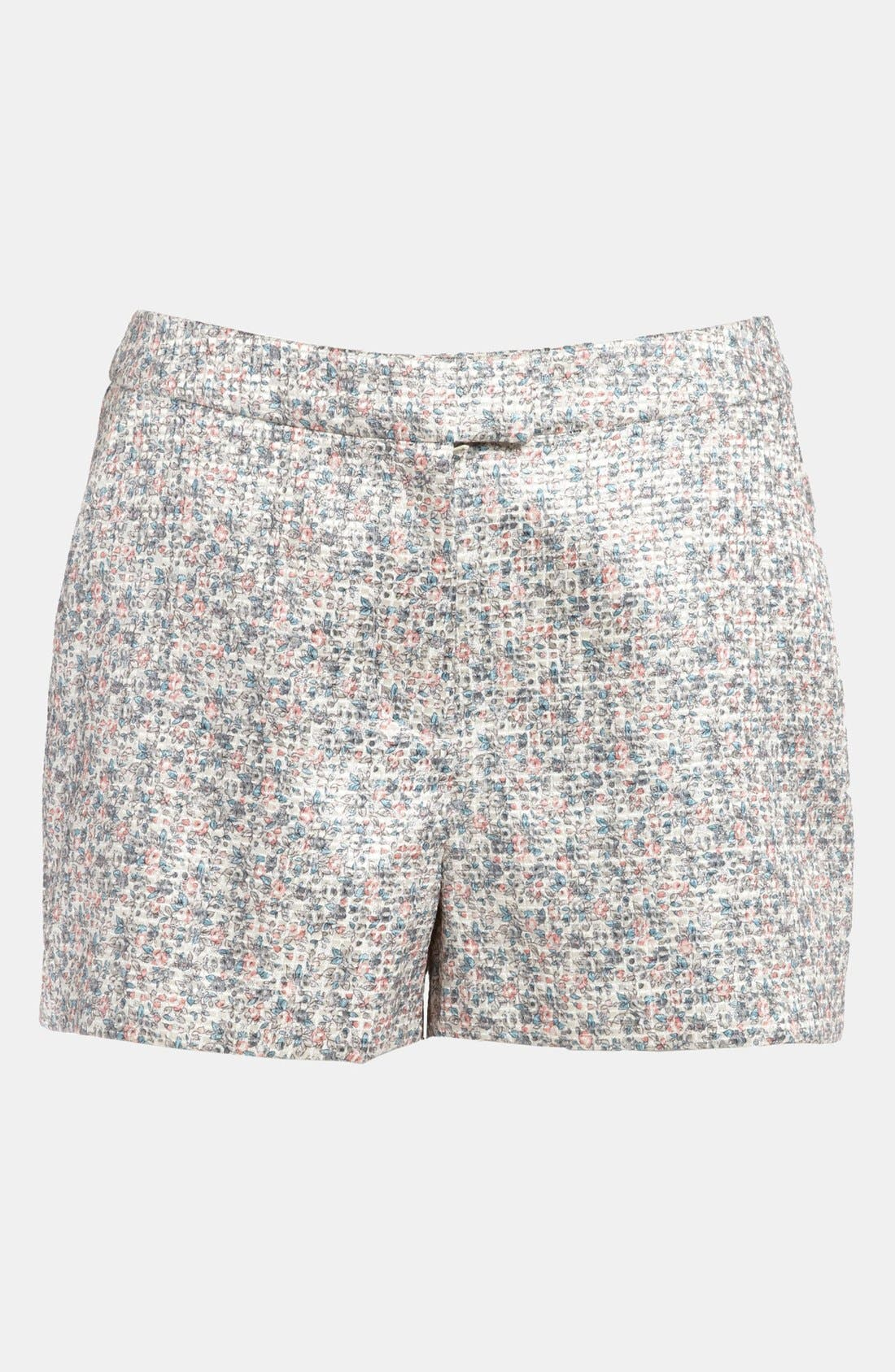 Alternate Image 2  - ASTR High Waist Floral Jacquard Shorts
