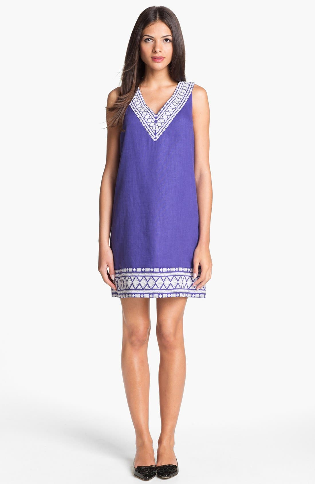 Alternate Image 1 Selected - kate spade new york 'laureen' linen blend shift dress