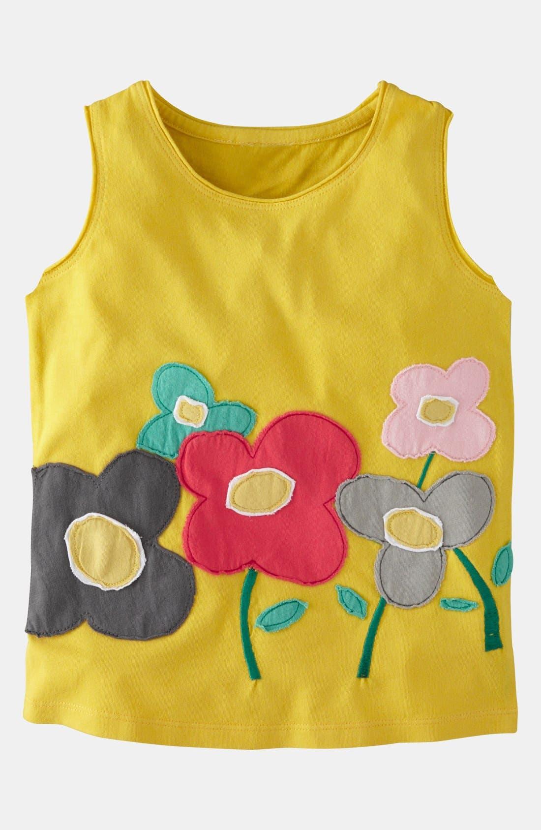 Alternate Image 1 Selected - Mini Boden 'Fab Flower' Tank Top (Toddler)