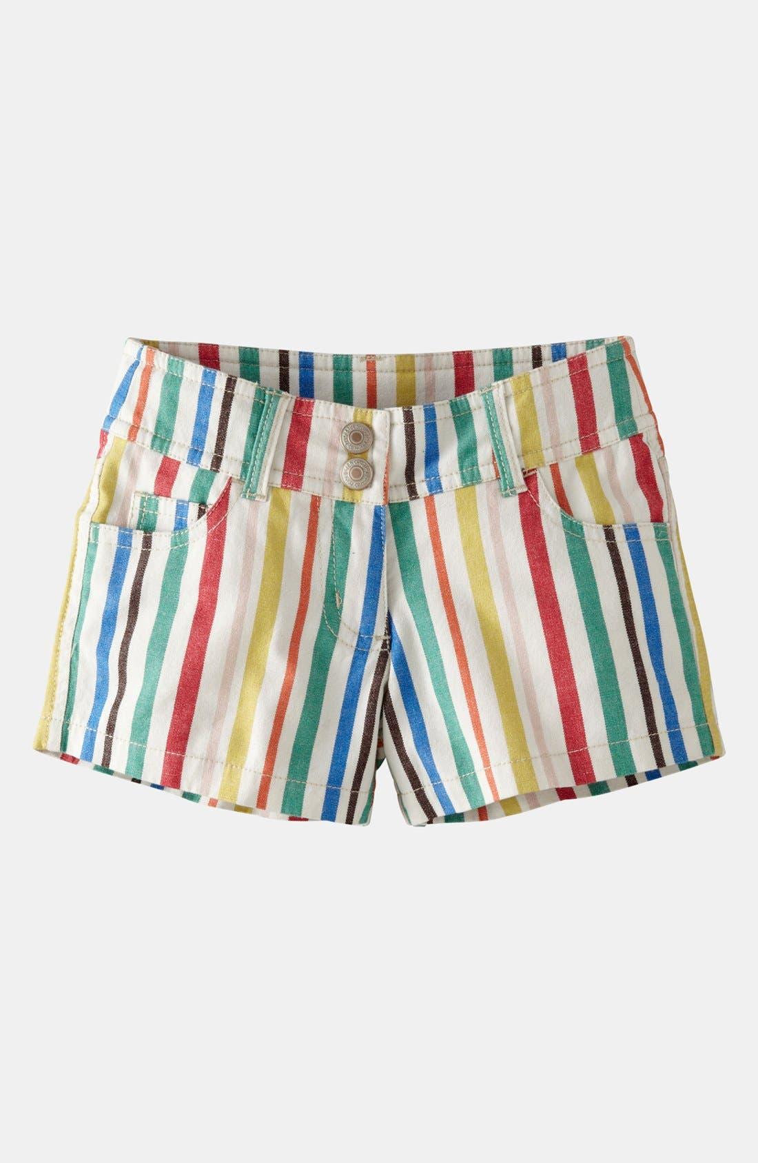 Alternate Image 1 Selected - Mini Boden 'Heart Pocket' Denim Shorts (Little Girls & Big Girls)