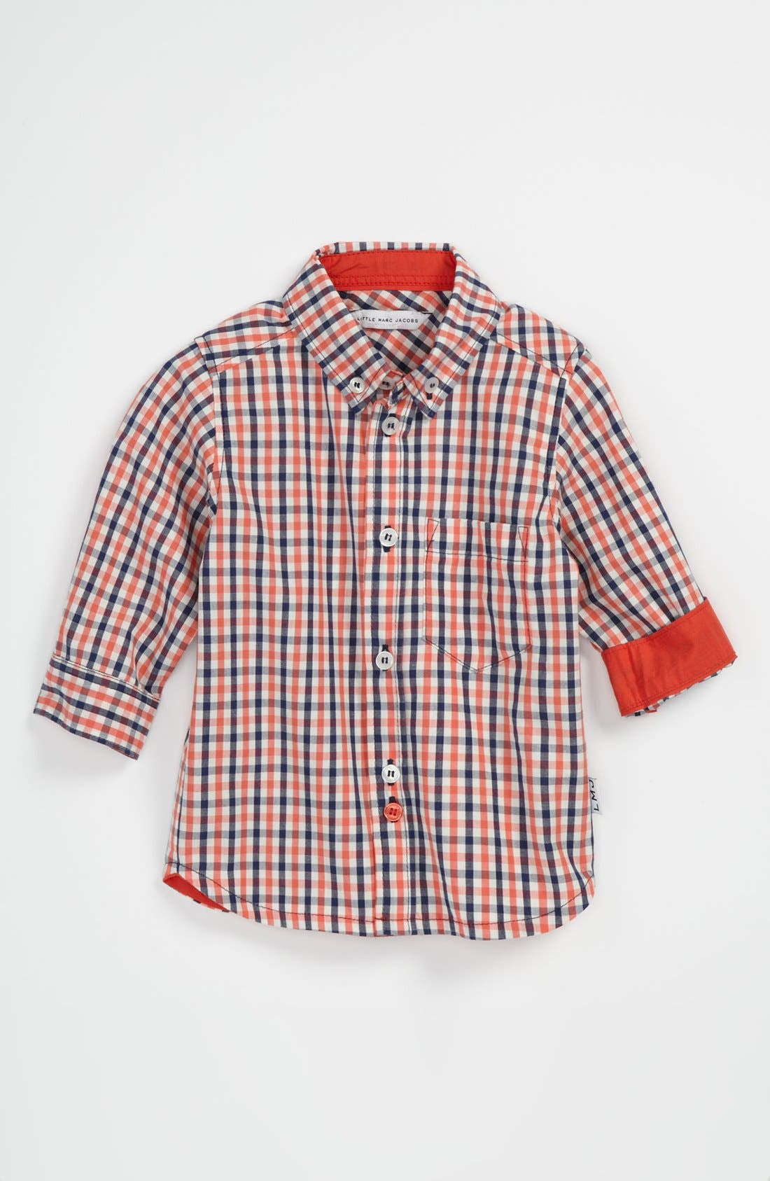 Alternate Image 1 Selected - LITTLE MARC JACOBS Plaid Woven Shirt (Toddler)