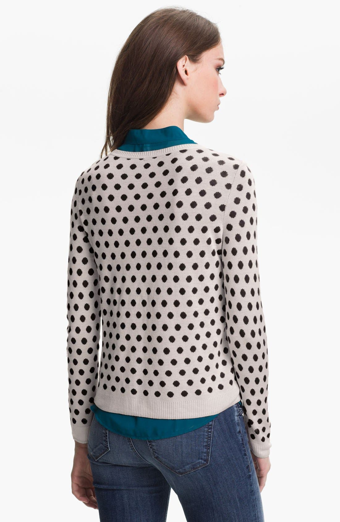 Alternate Image 2  - Kensie Reversible Dot Sweater