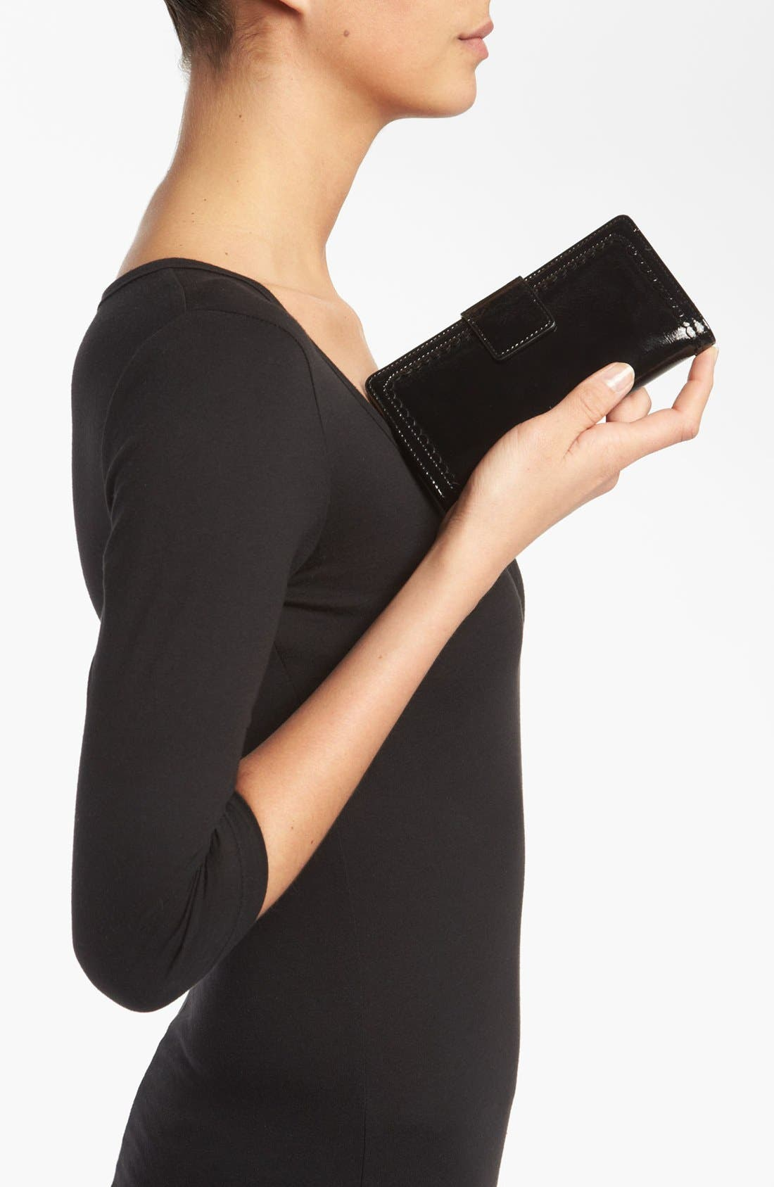 Alternate Image 2  - Halogen 'Victoria' Scalloped Trim Wallet