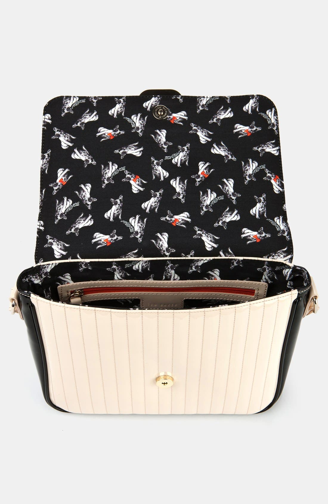 Alternate Image 3  - Ted Baker London 'Enamel - Large Colorblock' Quilted Faux Leather Crossbody Bag