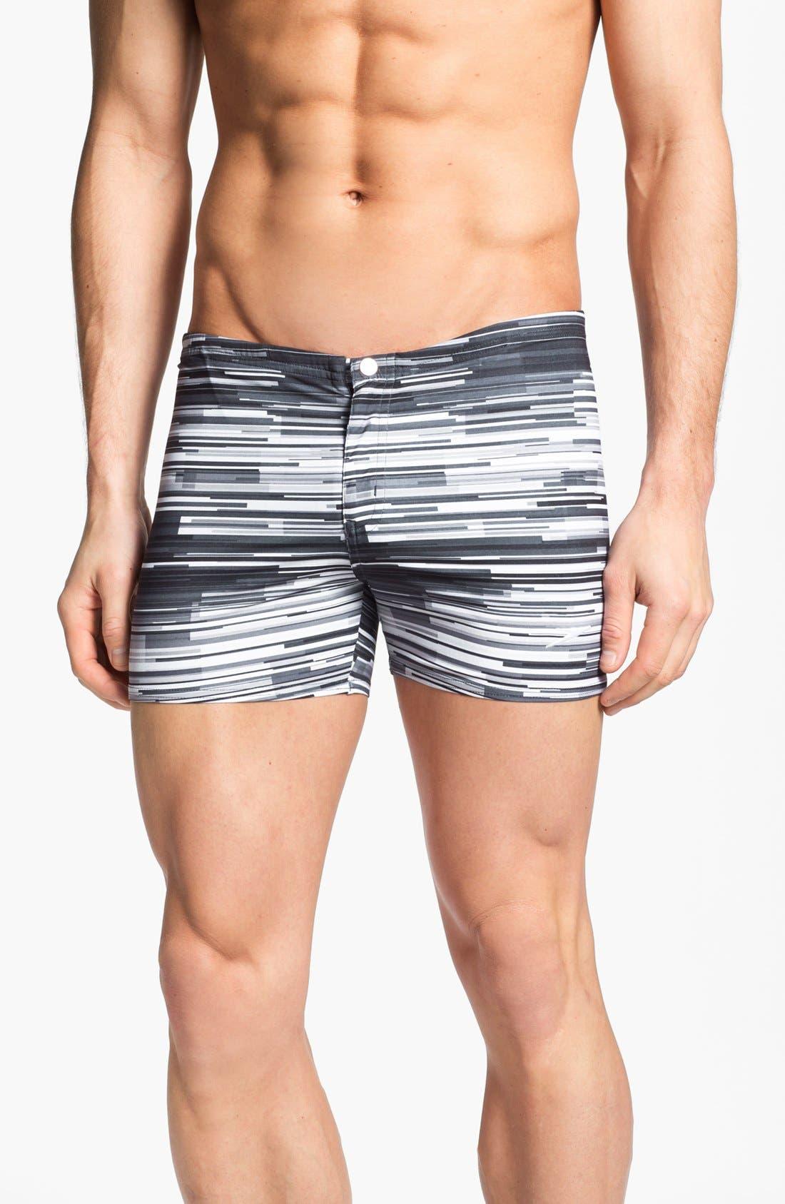 Main Image - Speedo® 'Linear Motion' Square Cut Swim Trunks