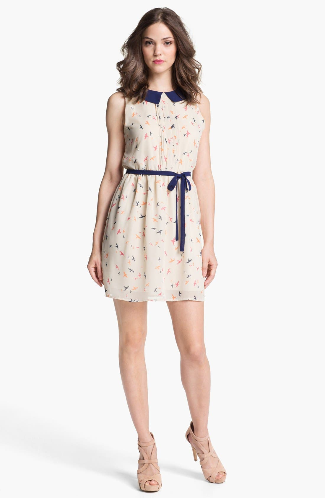 Alternate Image 1 Selected - Olive & Oak Bird Print Shirtdress
