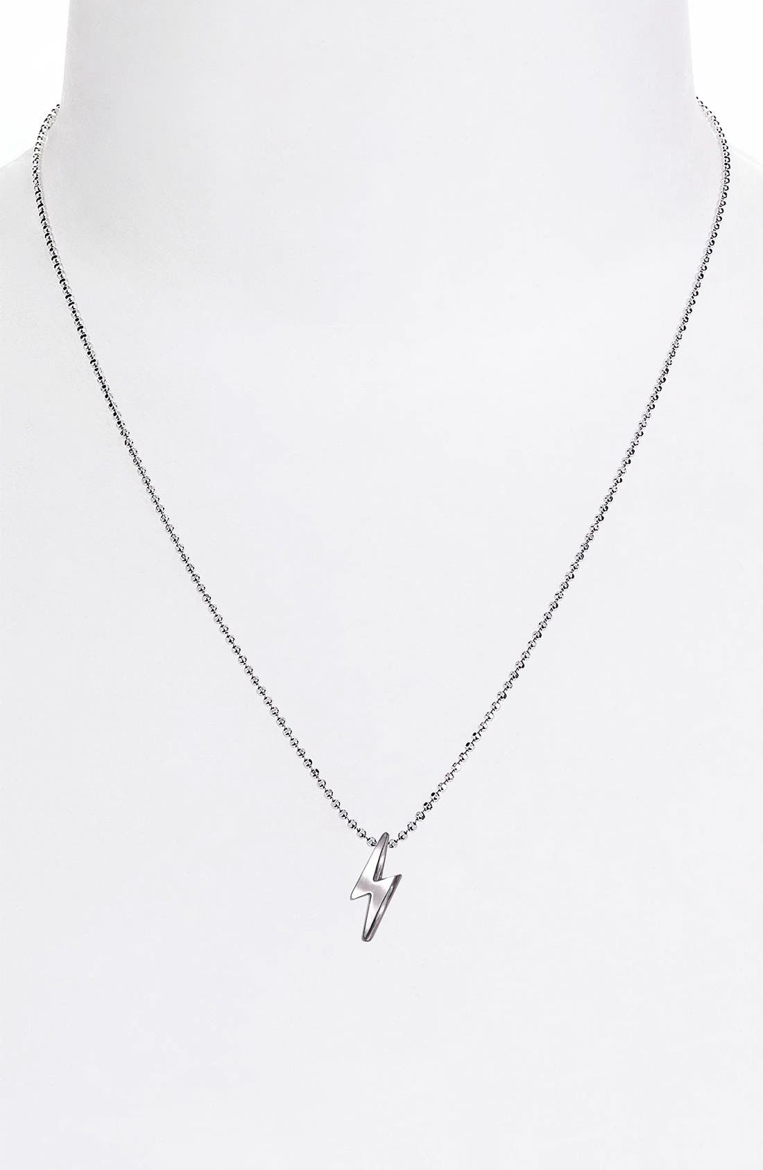 Alternate Image 3  - Alex Woo 'Little Rock Star' Lightning Bolt Pendant Necklace