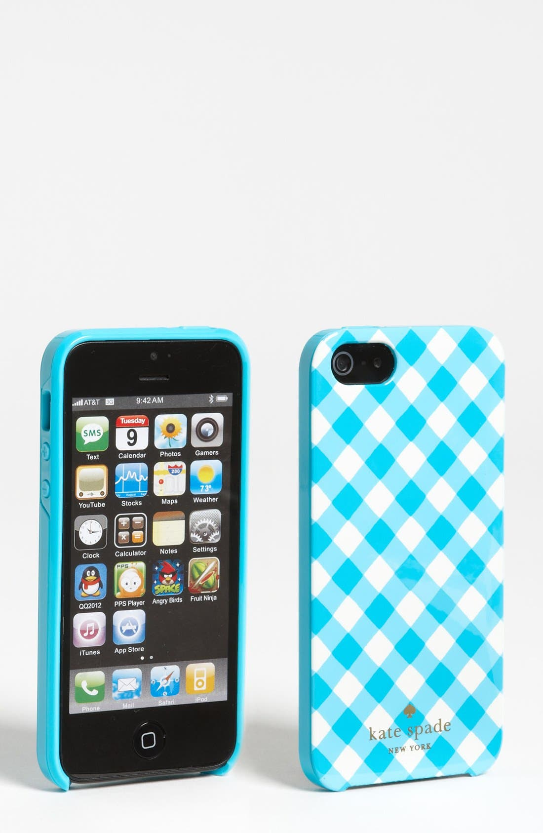 Alternate Image 1 Selected - kate spade new york gingham iPhone 5 & 5S case
