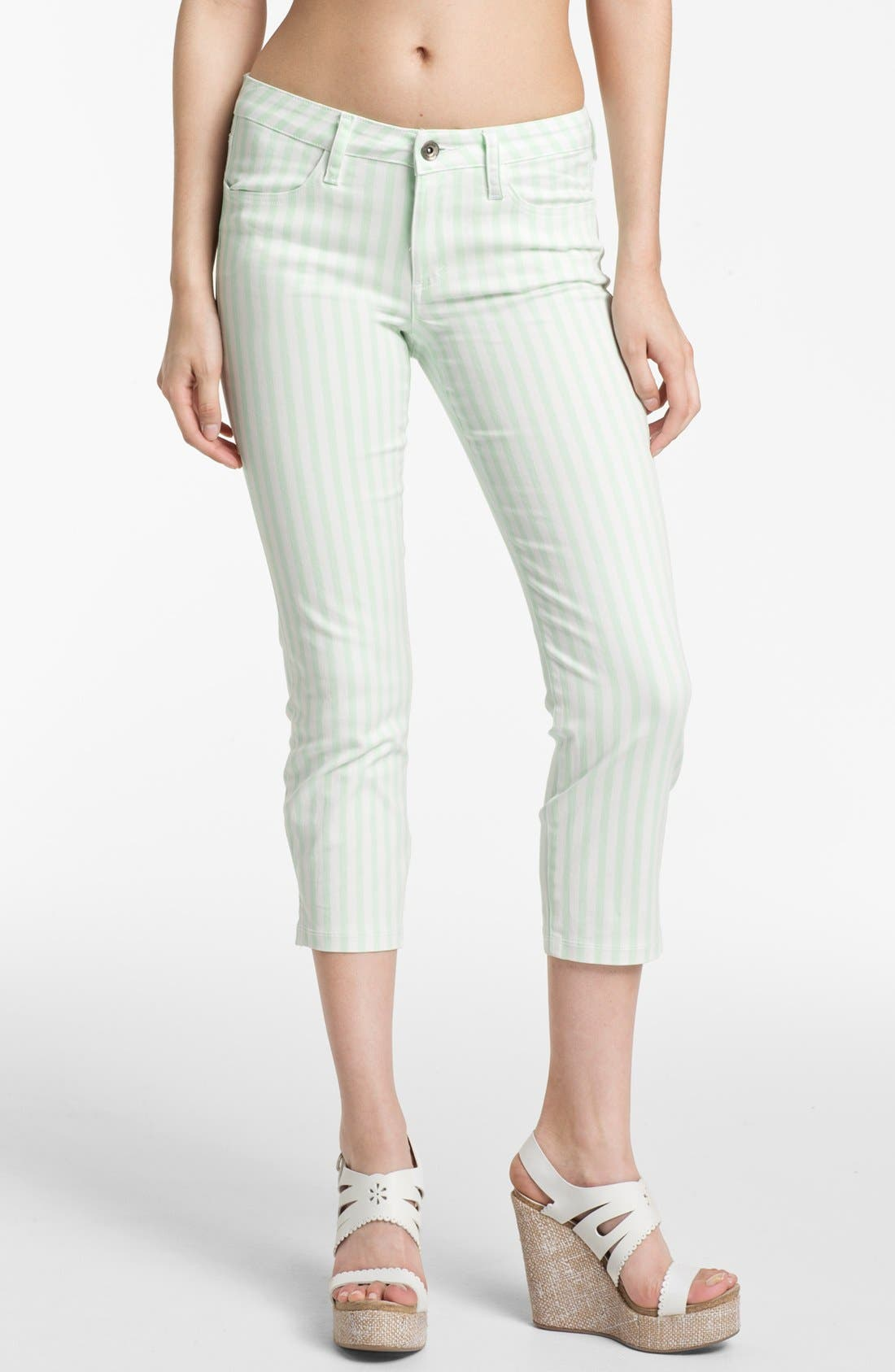 Main Image - Splendid 'Shoreside' Stripe Cropped Skinny Pants