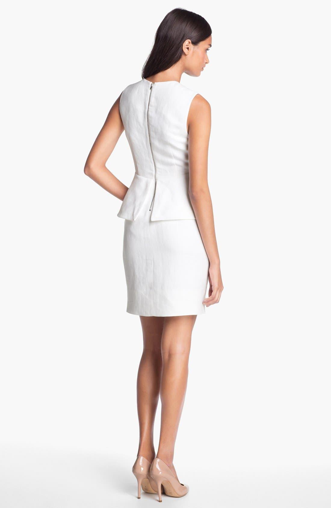 Alternate Image 2  - Diane von Furstenberg 'Delian' Linen Blend Sheath Dress
