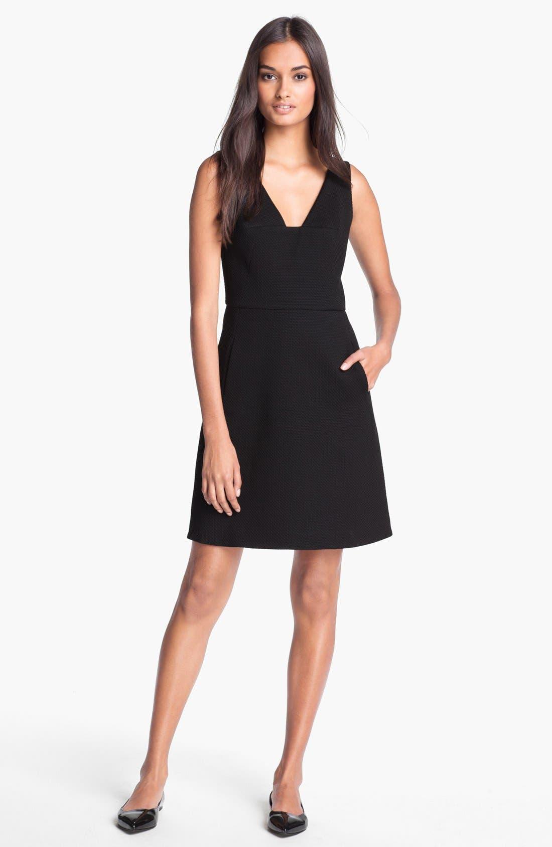 Alternate Image 1 Selected - Rachel Roy Stretch Cotton A-Line Dress