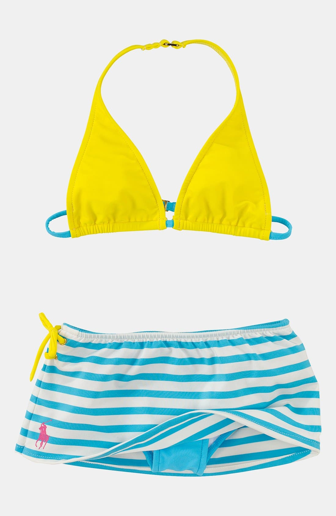 Alternate Image 1 Selected - Ralph Lauren Two Piece Swimsuit (Toddler)