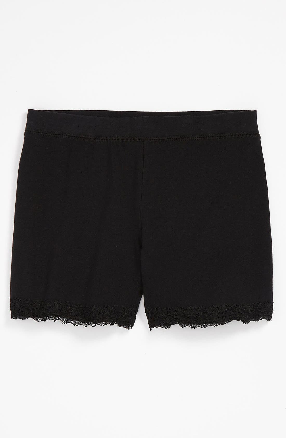 Alternate Image 1 Selected - Tucker + Tate Lace Trim Shorts (Little Girls & Big Girls)