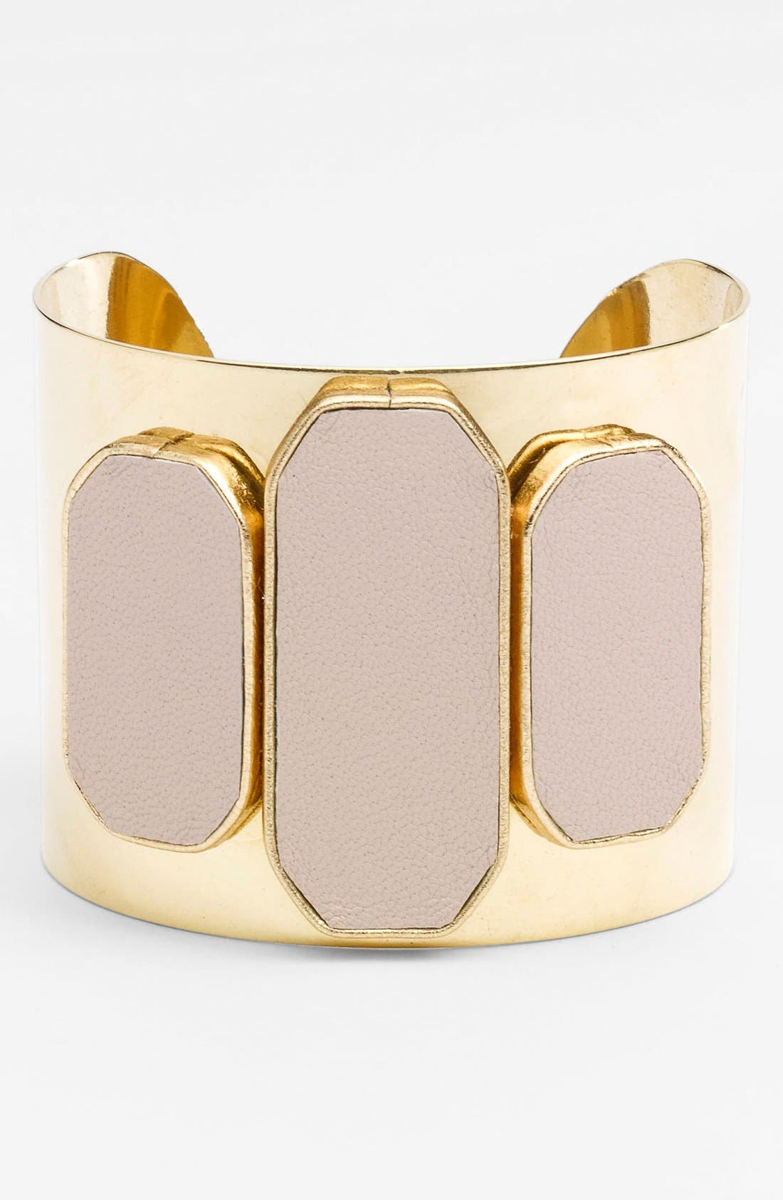 Alternate Image 1 Selected - Sandy Hyun Leather & Metal Cuff