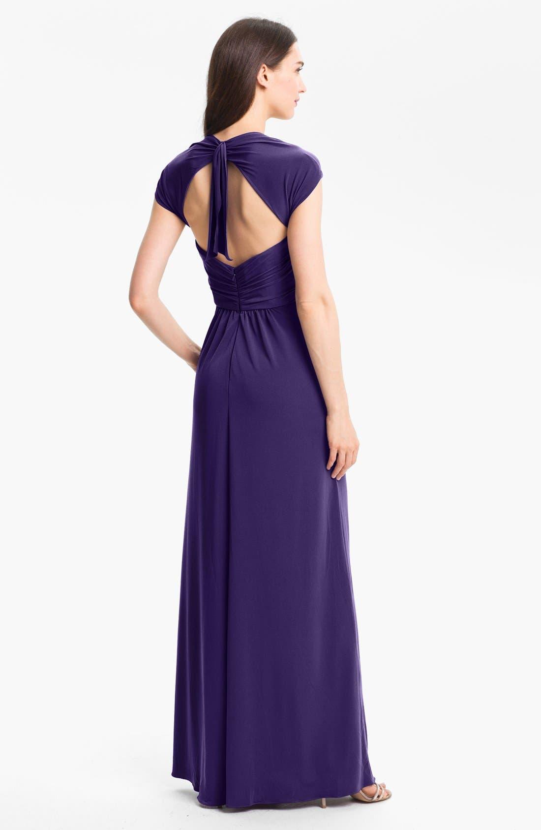 Alternate Image 2  - Amsale Back Cutout Gown
