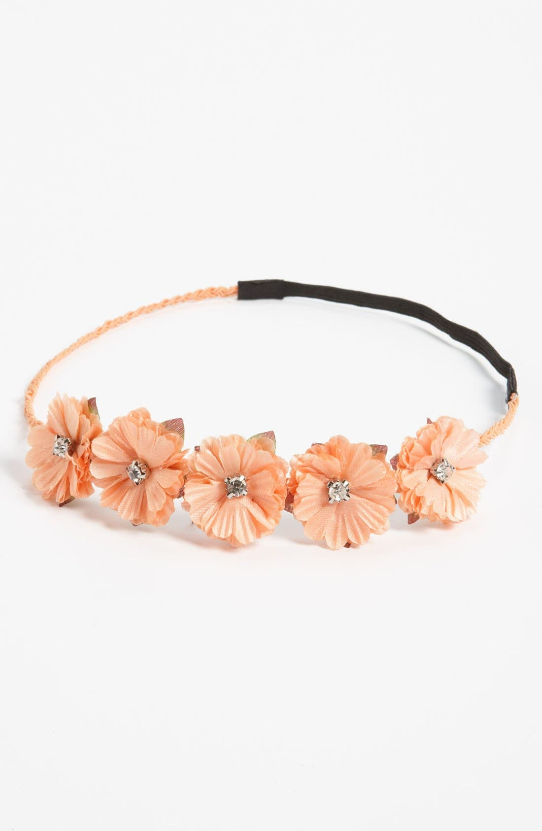 Main Image - Carole Rhinestone Accent Floral Headband