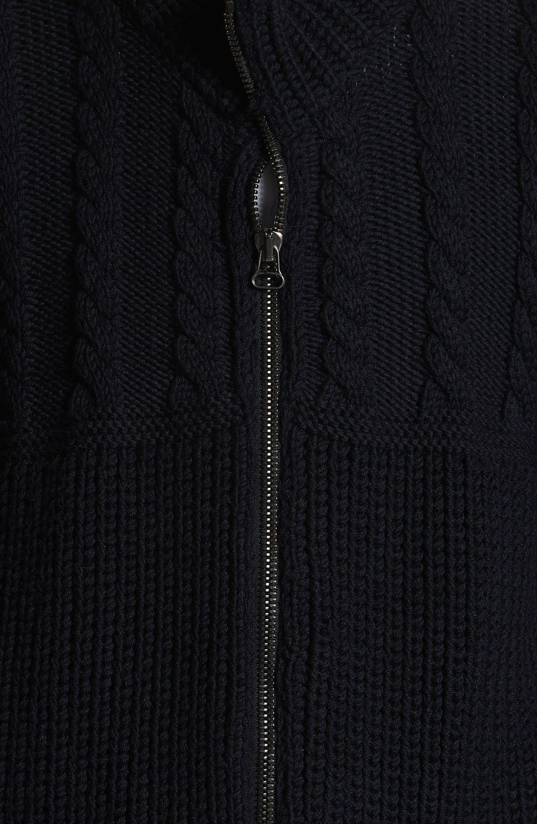 Alternate Image 3  - Lanvin Cable Knit Zip Sweater