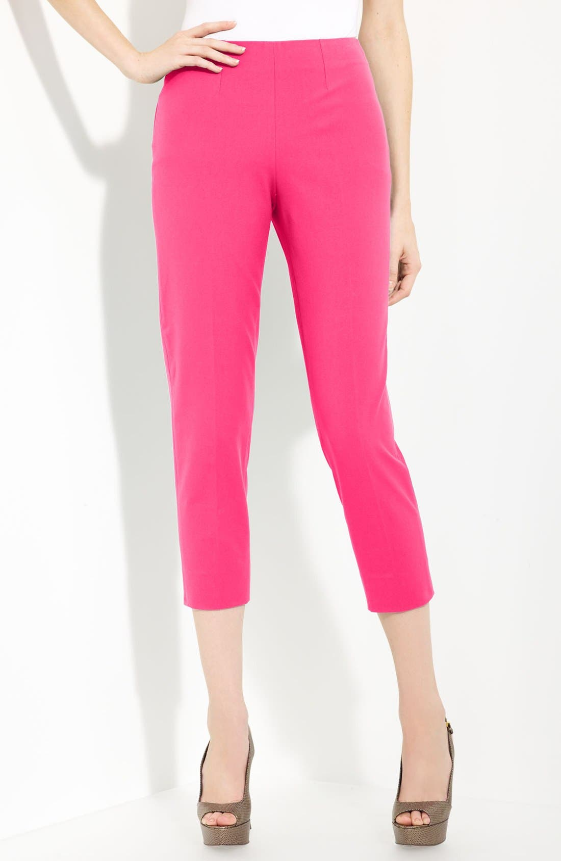 Alternate Image 1 Selected - Piazza Sempione 'Audrey' Stretch Cotton Gabardine Capris