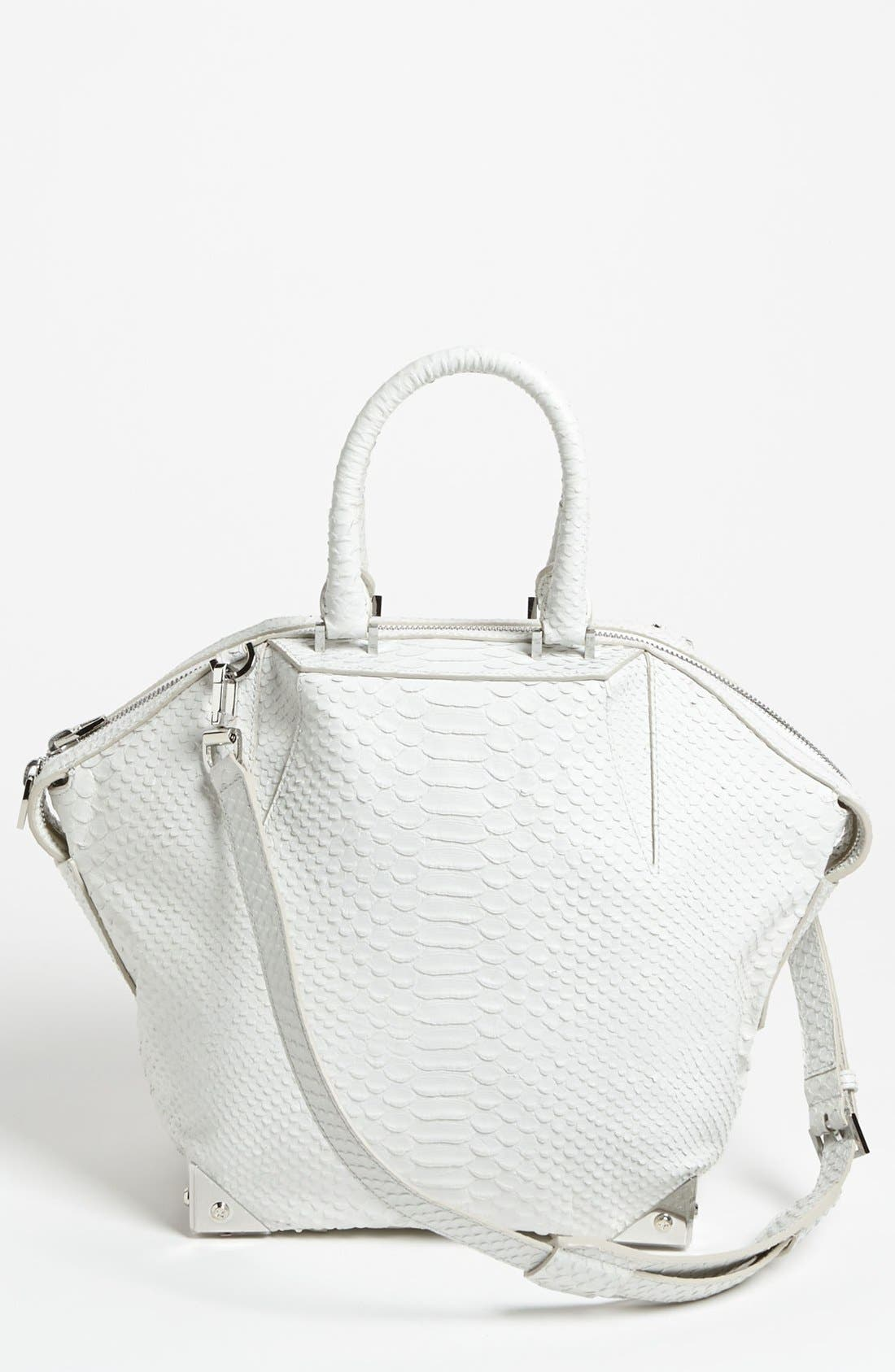 Main Image - Alexander Wang 'Emile - Small Prisma' Python Embossed Leather Tote