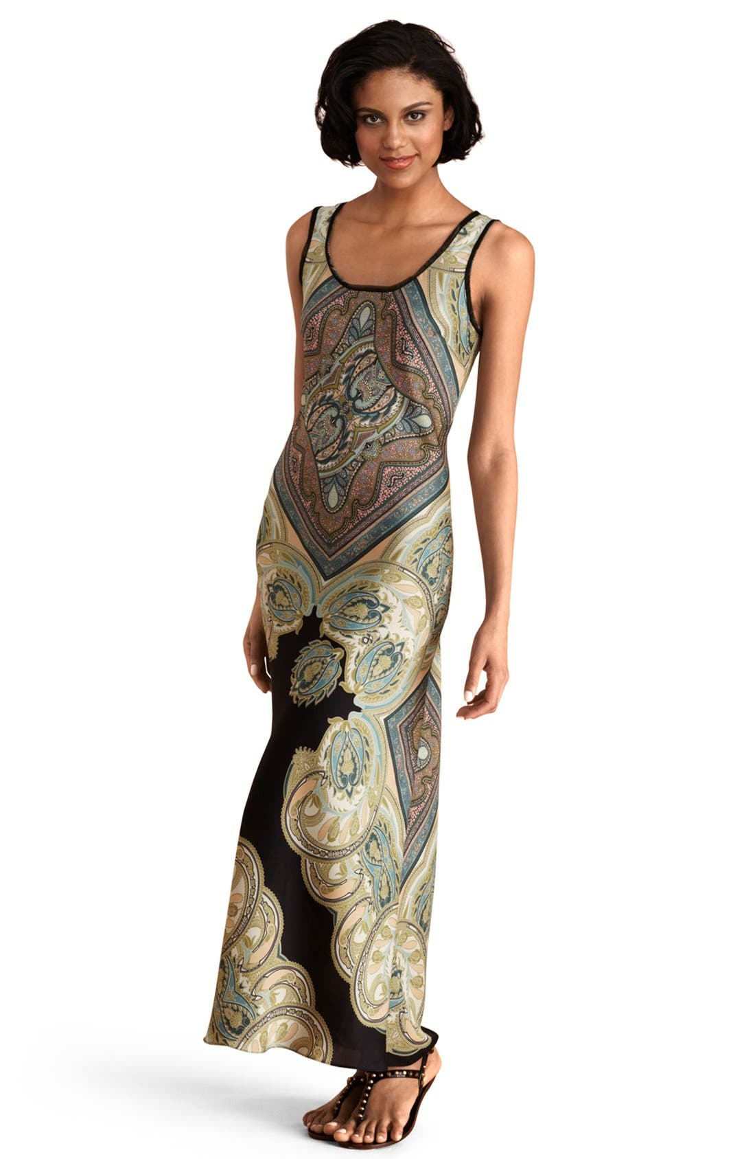Alternate Image 1 Selected - Donna Morgan 'Harlow' Print Maxi Dress