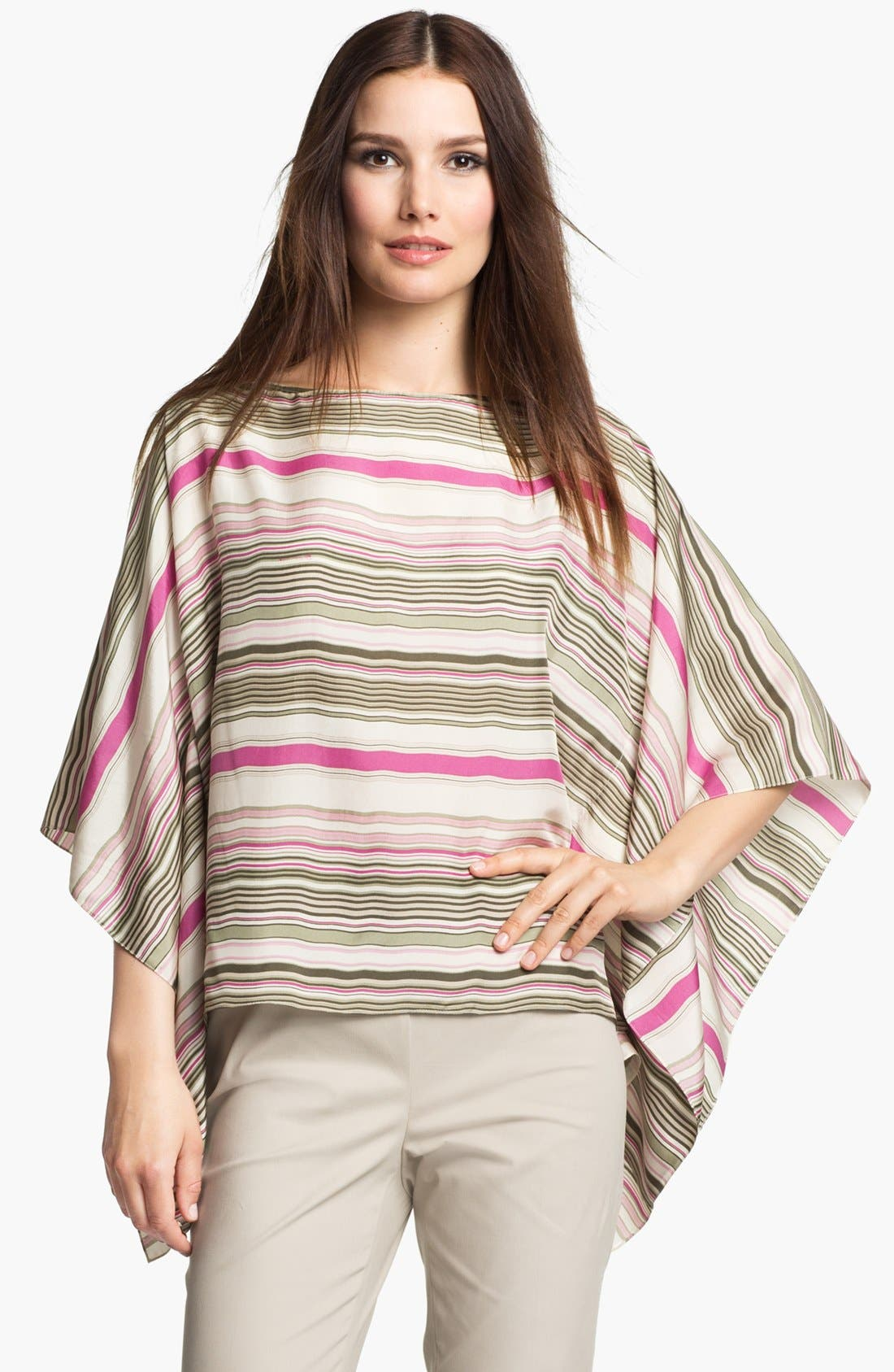 Alternate Image 1 Selected - Lafayette 148 New York 'Mirabelle - Serengeti Stripe' Silk Top