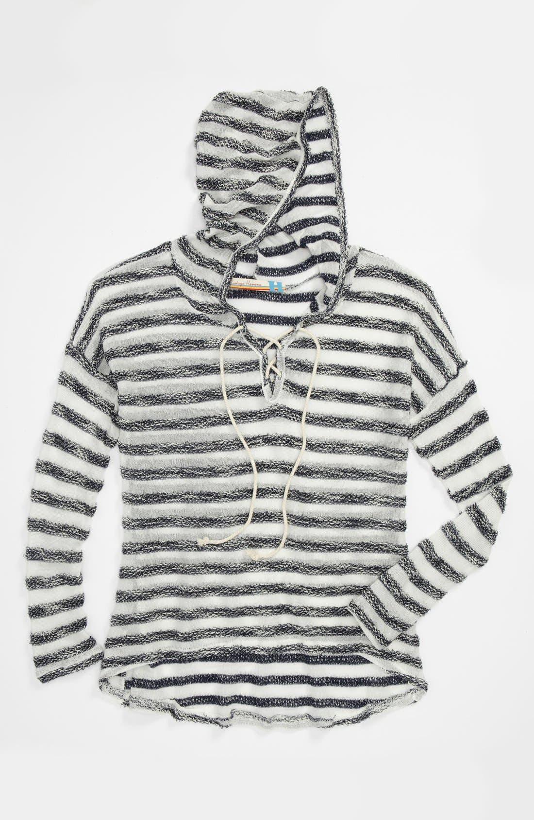 Alternate Image 1 Selected - Vintage Havana Stripe Sweater (Big Girls)