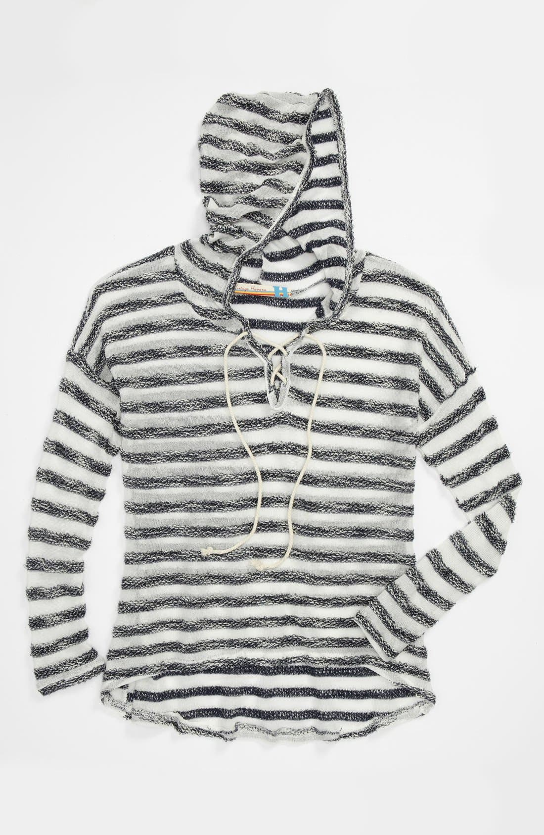 Main Image - Vintage Havana Stripe Sweater (Big Girls)