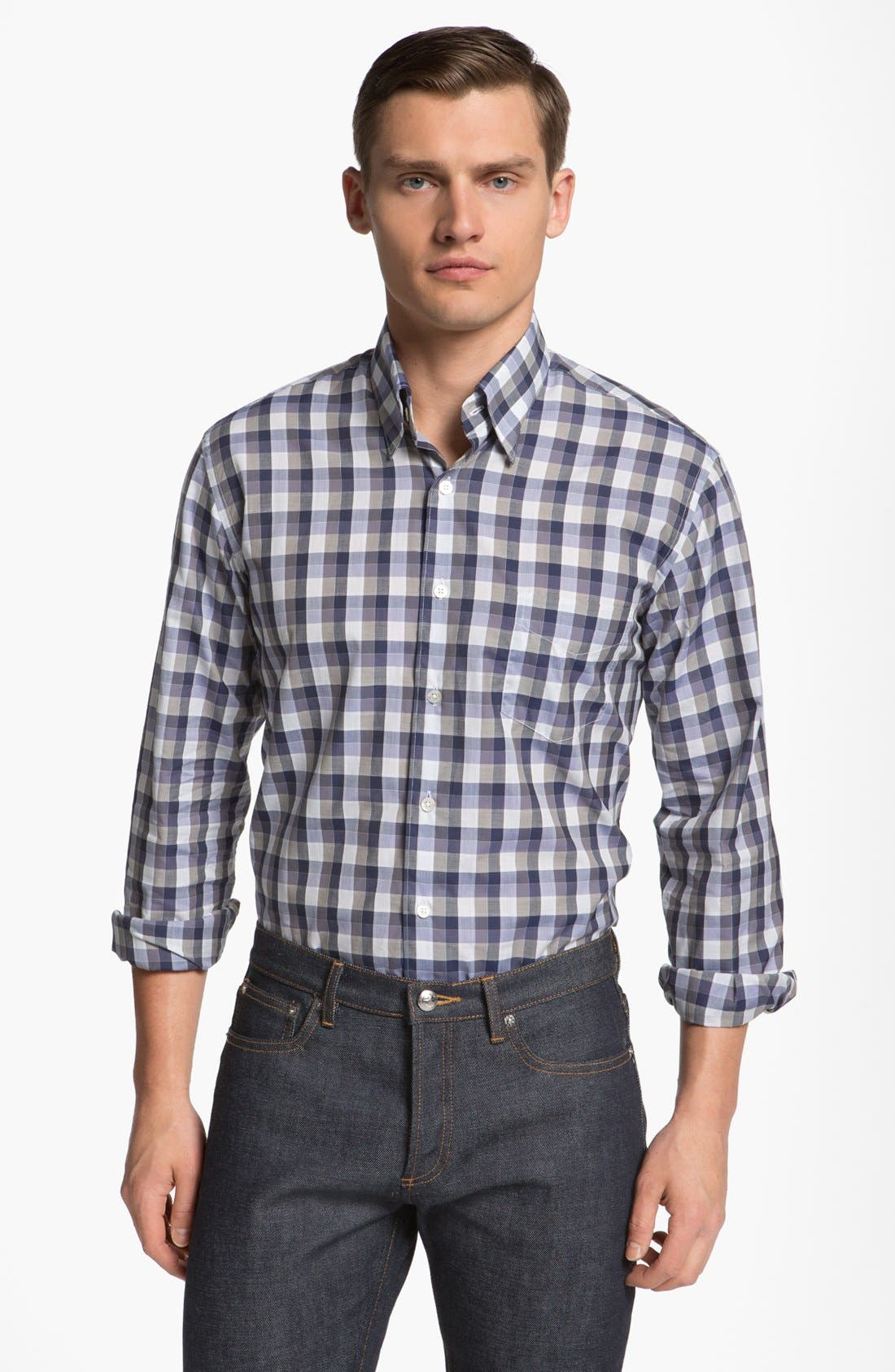 Alternate Image 1 Selected - Canali Check Sport Shirt