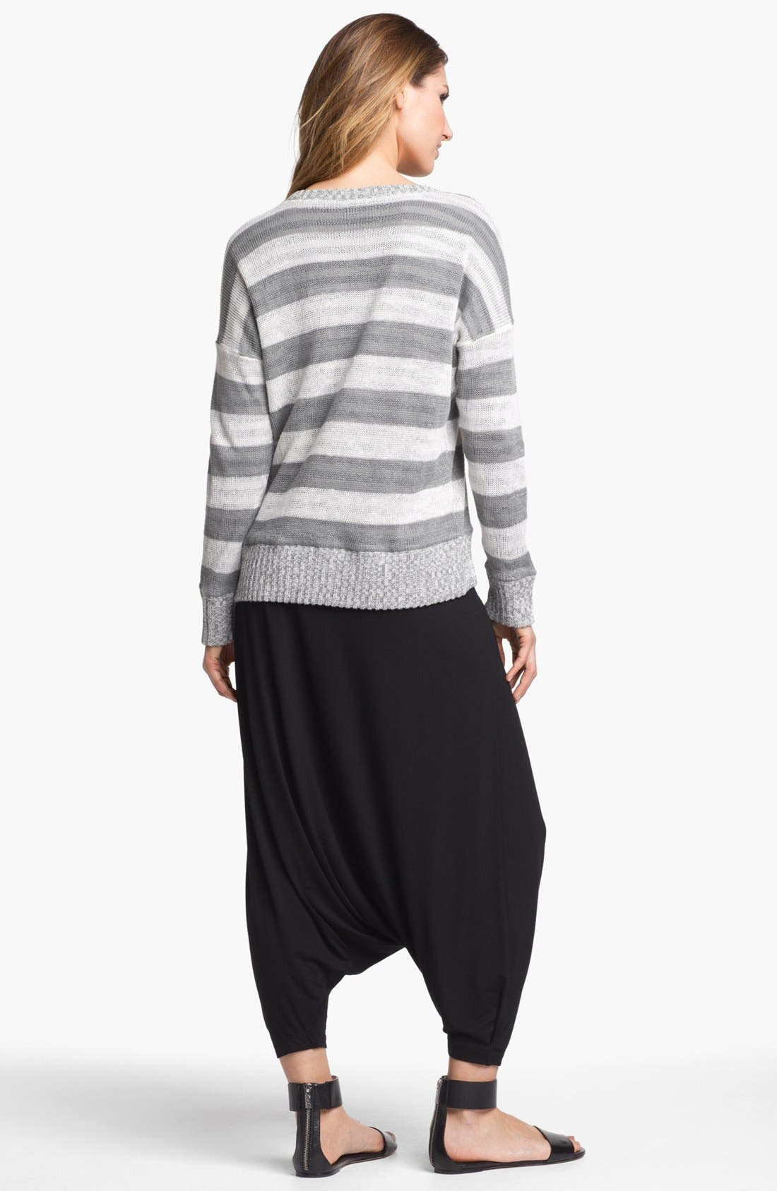 Alternate Image 5  - Eileen Fisher Scoop Neck Stripe Sweater