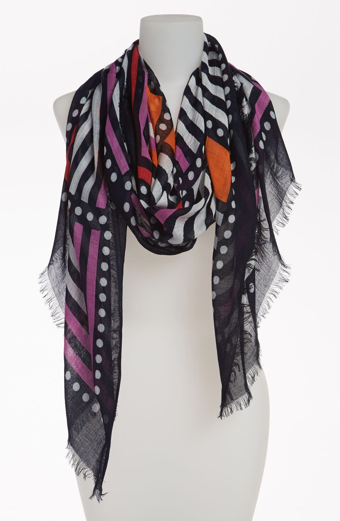 Alternate Image 1 Selected - Halogen® 'Graphic Squares' Scarf